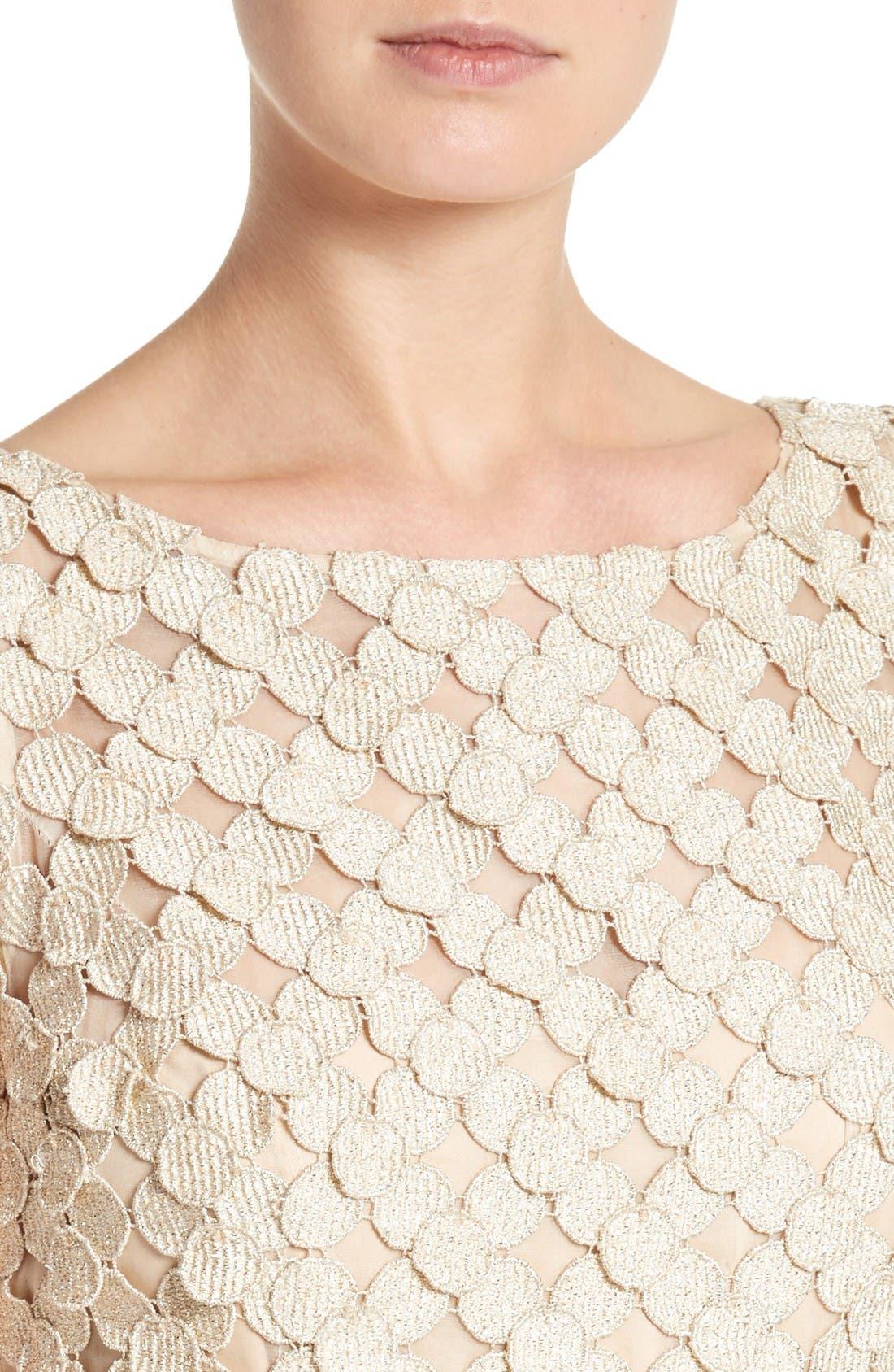 Alternate Image 4  - Carmen Marc Valvo Couture Circle Appliqué Sleeveless Column Gown