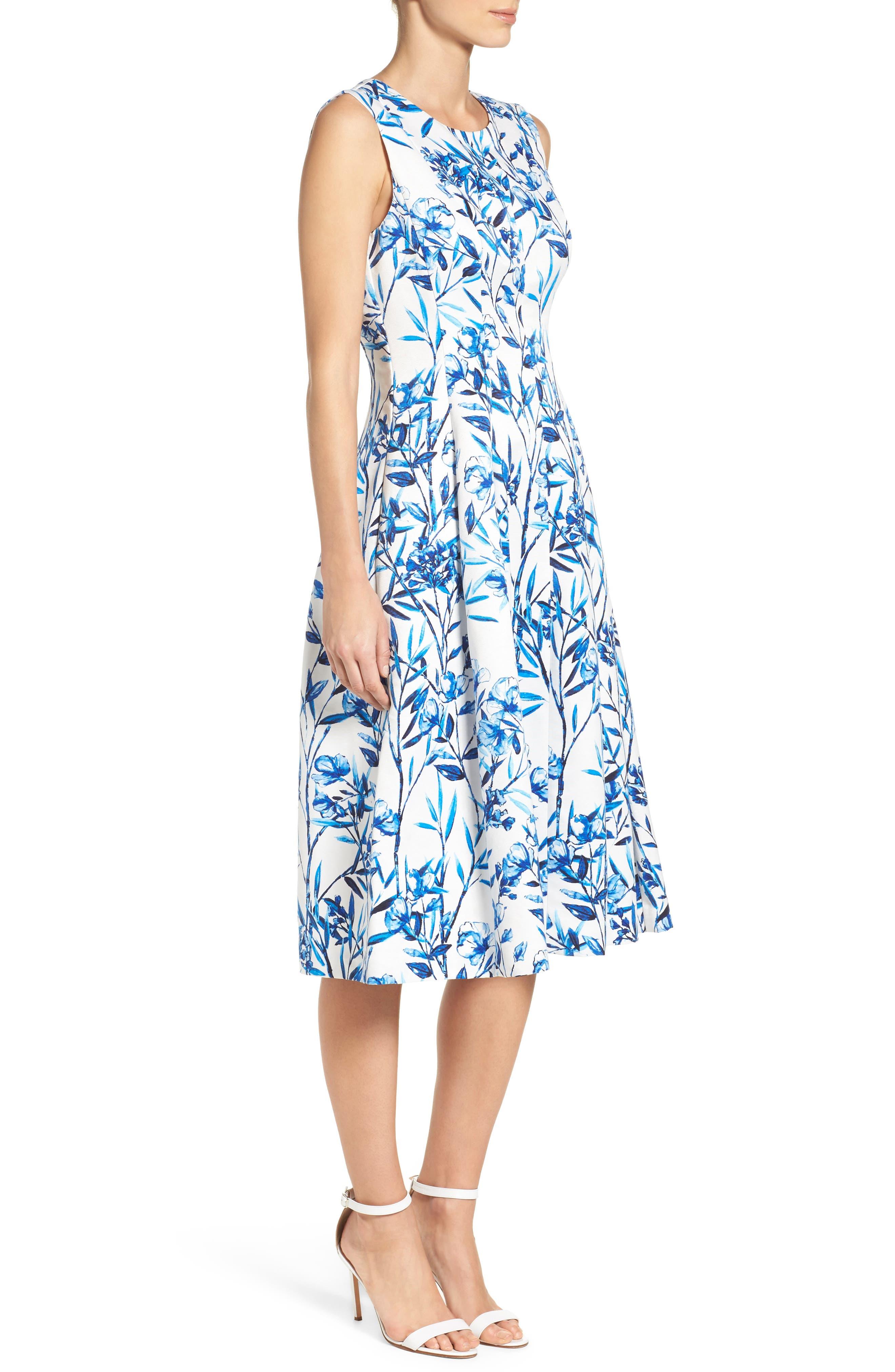 Alternate Image 3  - Eliza J Fit & Flare Midi Dress