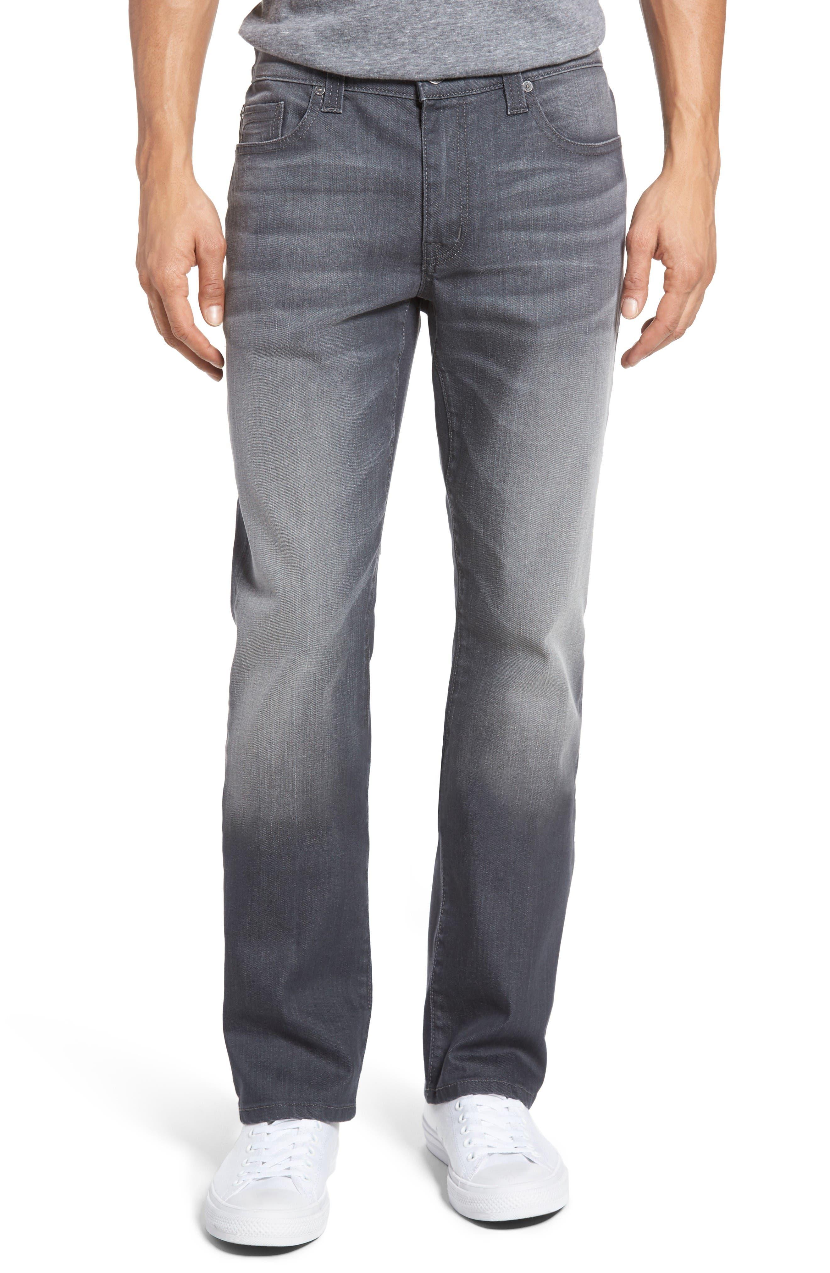 Alternate Image 1 Selected - Fidelity Denim Impala Straight Leg Jeans (River Dark)