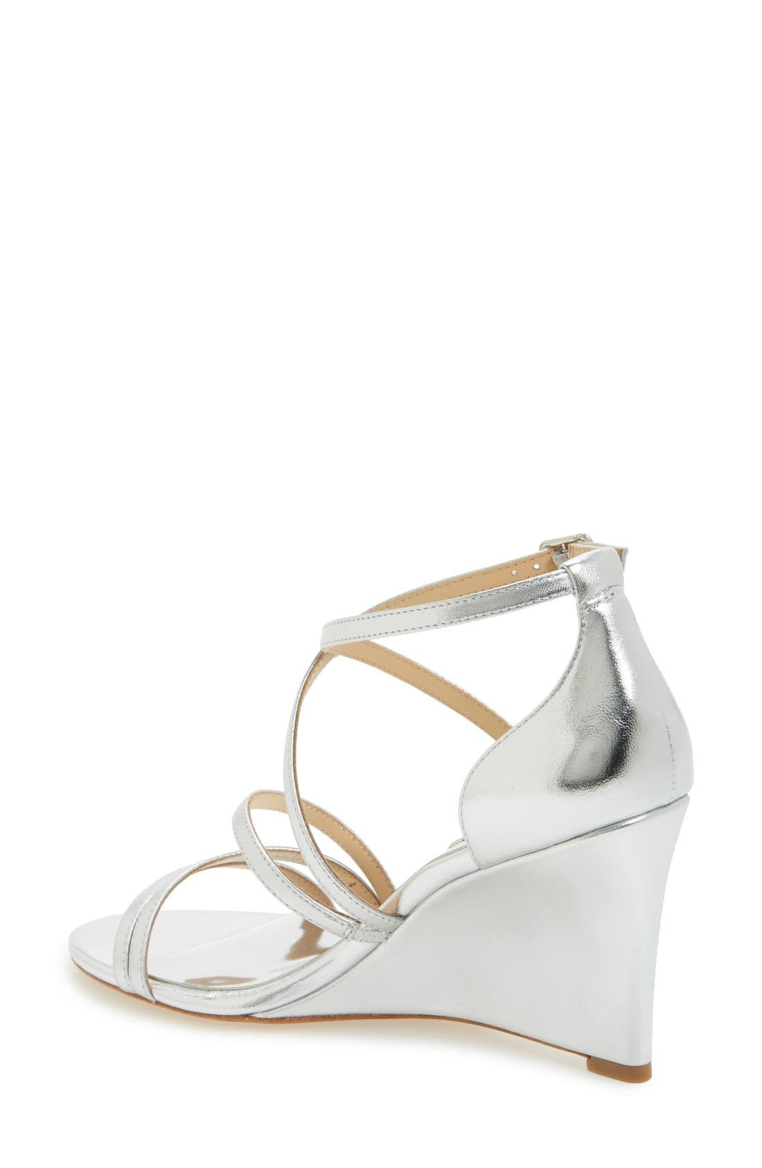 Alternate Image 2  - Badgley Mischka Bonanza Strappy Wedge Sandal (Women)