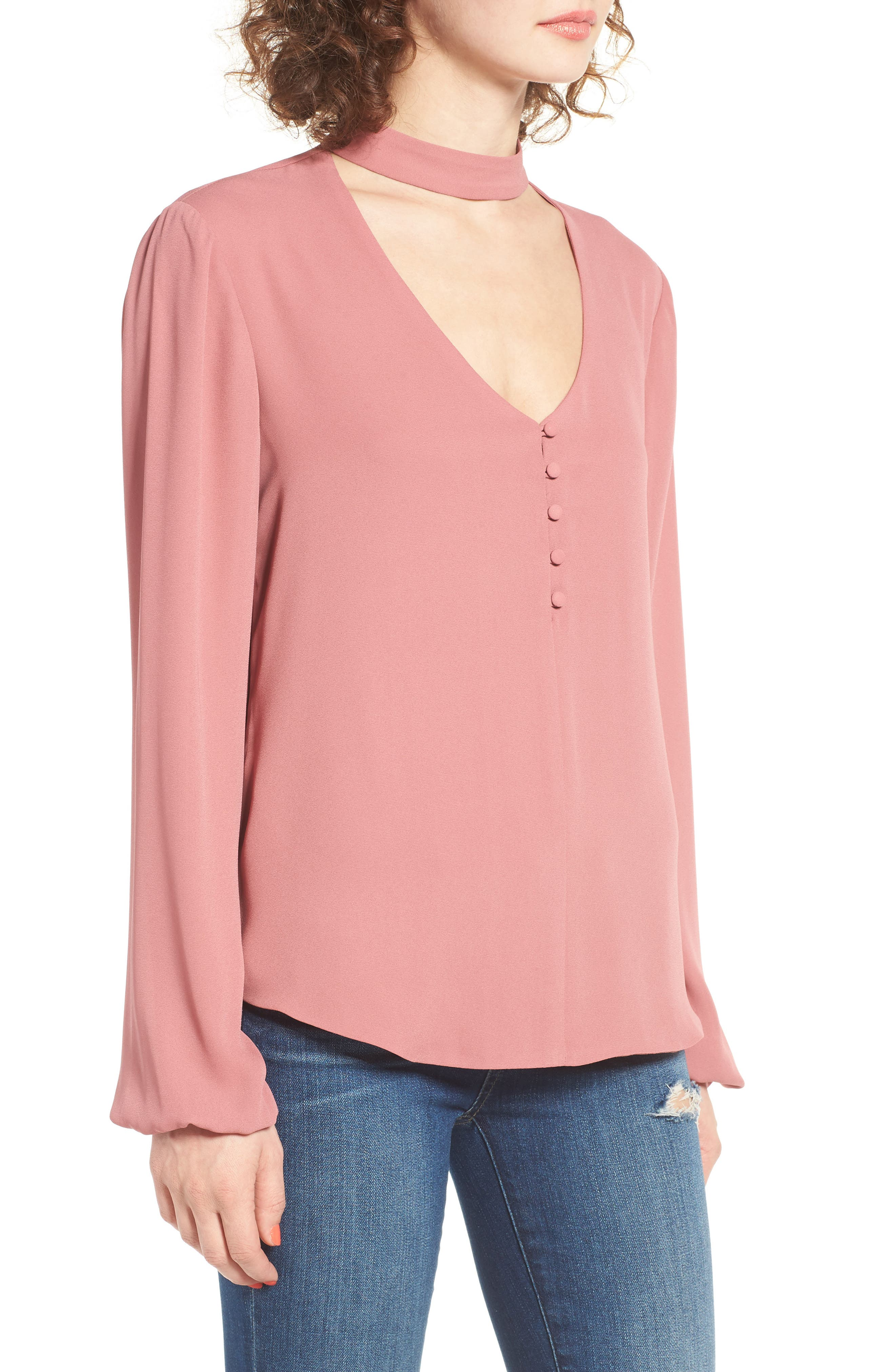 Alternate Image 3  - WAYF Sweet Symphony V-Neck Blouse