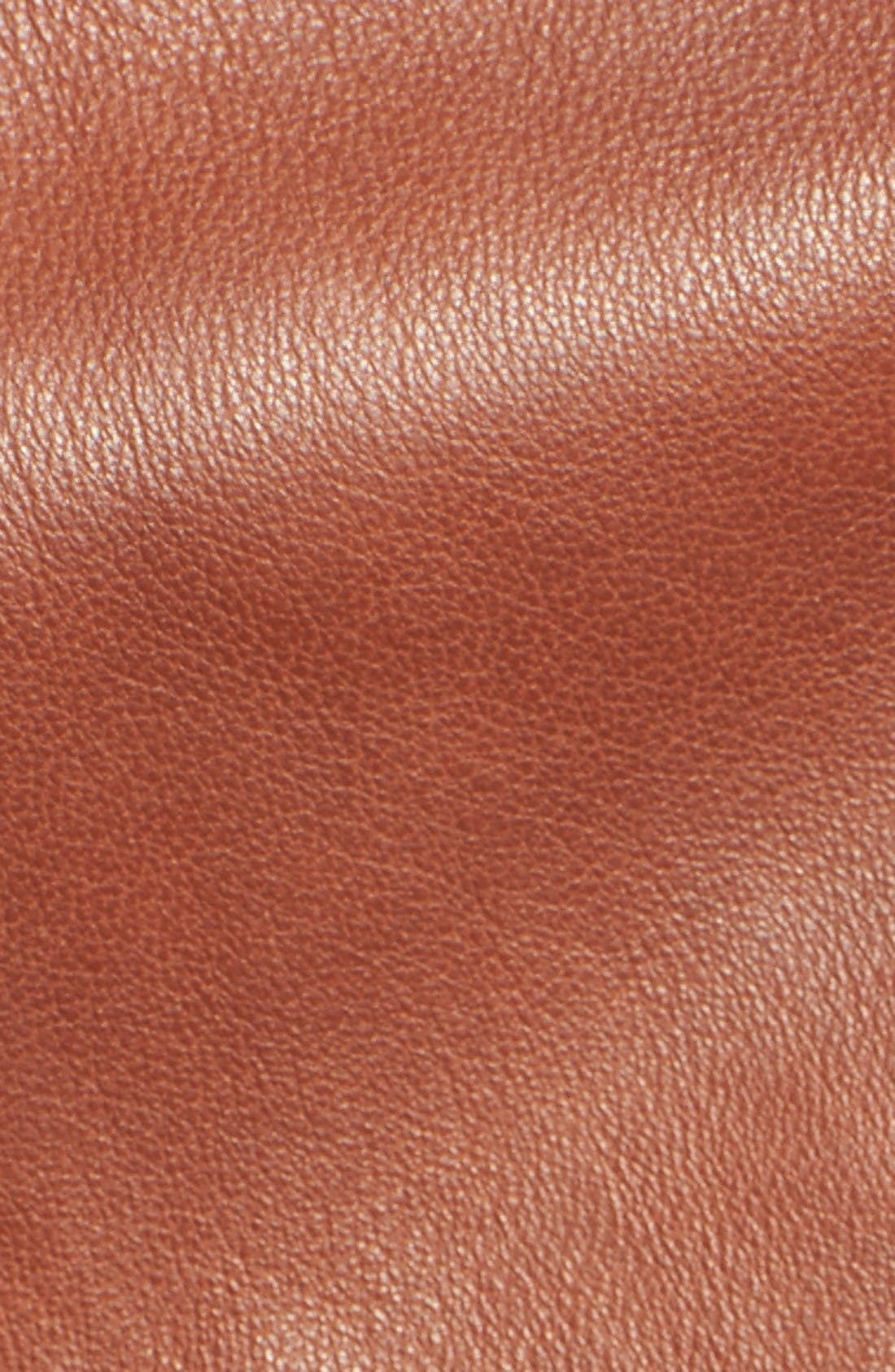 Alternate Image 5  - Bernardo Quilted Leather Moto Jacket (Regular & Petite)