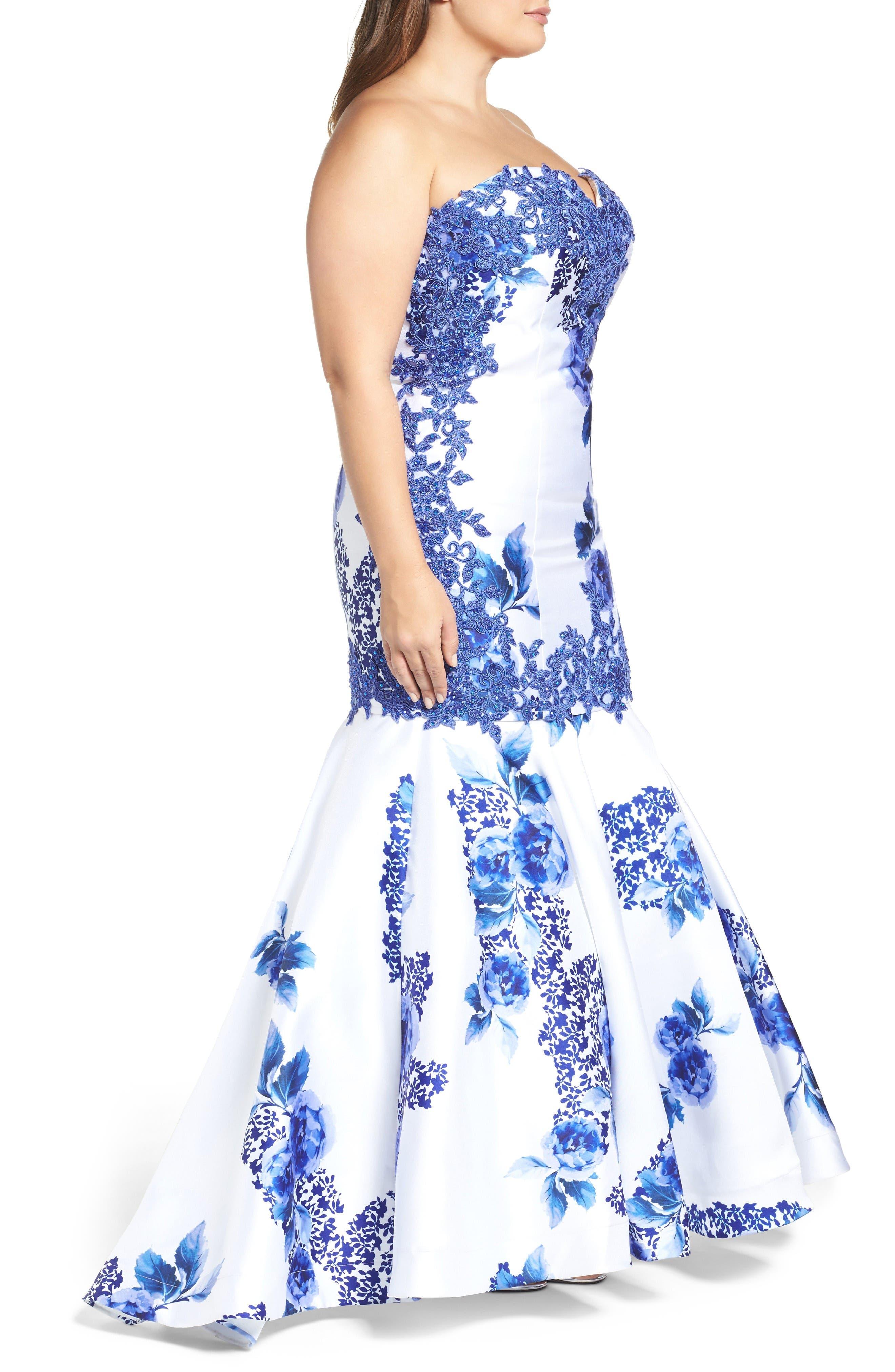 Alternate Image 3  - Mac Duggal Embellished Strapless Zip Off Mermaid Gown (Plus Size)