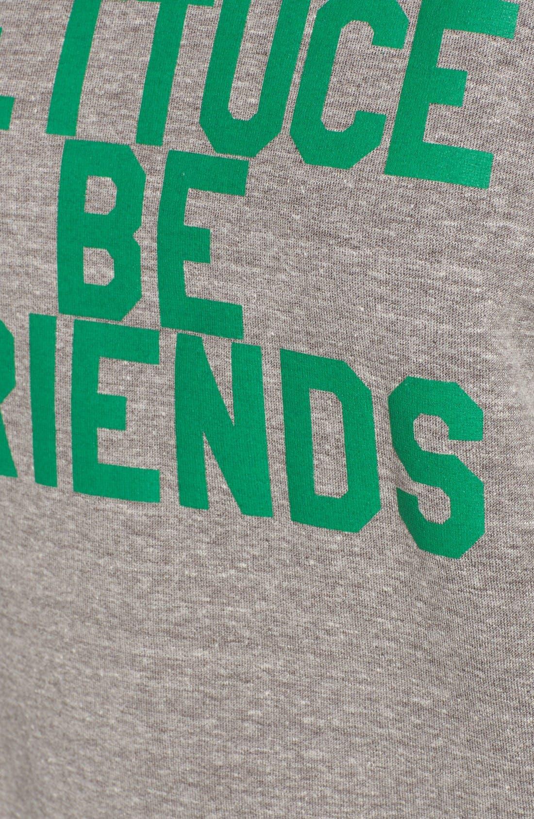 Lettuce Be Friends Sweatshirt,                             Alternate thumbnail 5, color,                             Heather Grey