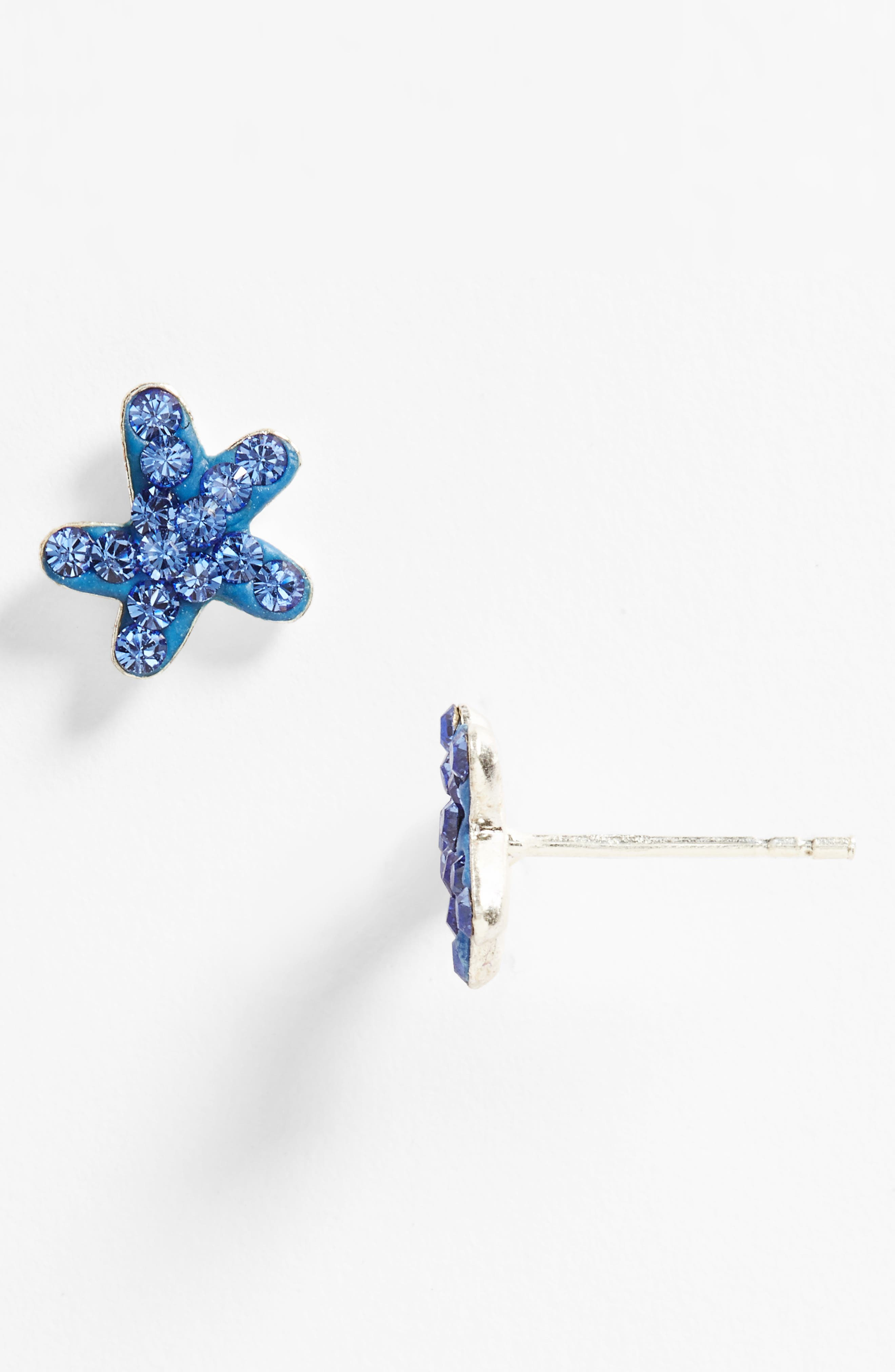 Main Image - Tomas 'Starfish' Pavé Earrings (Girls)
