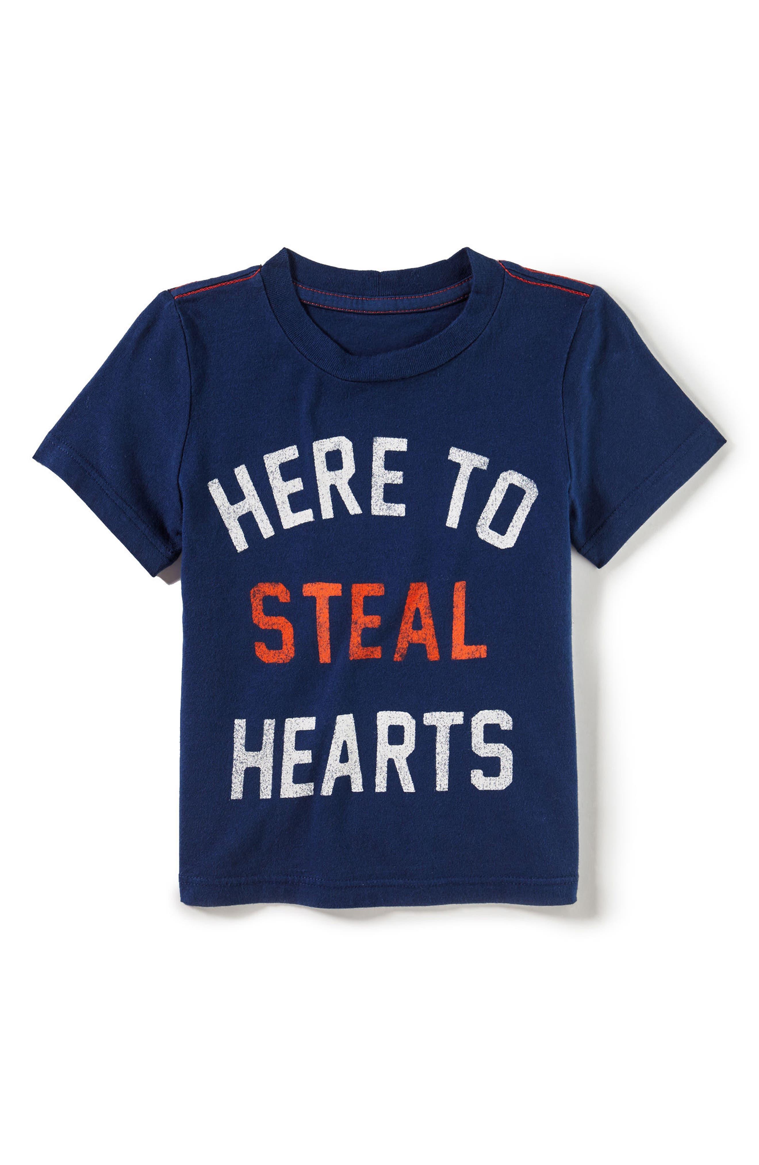 Steal Hearts Graphic T-Shirt,                             Main thumbnail 1, color,                             Navy