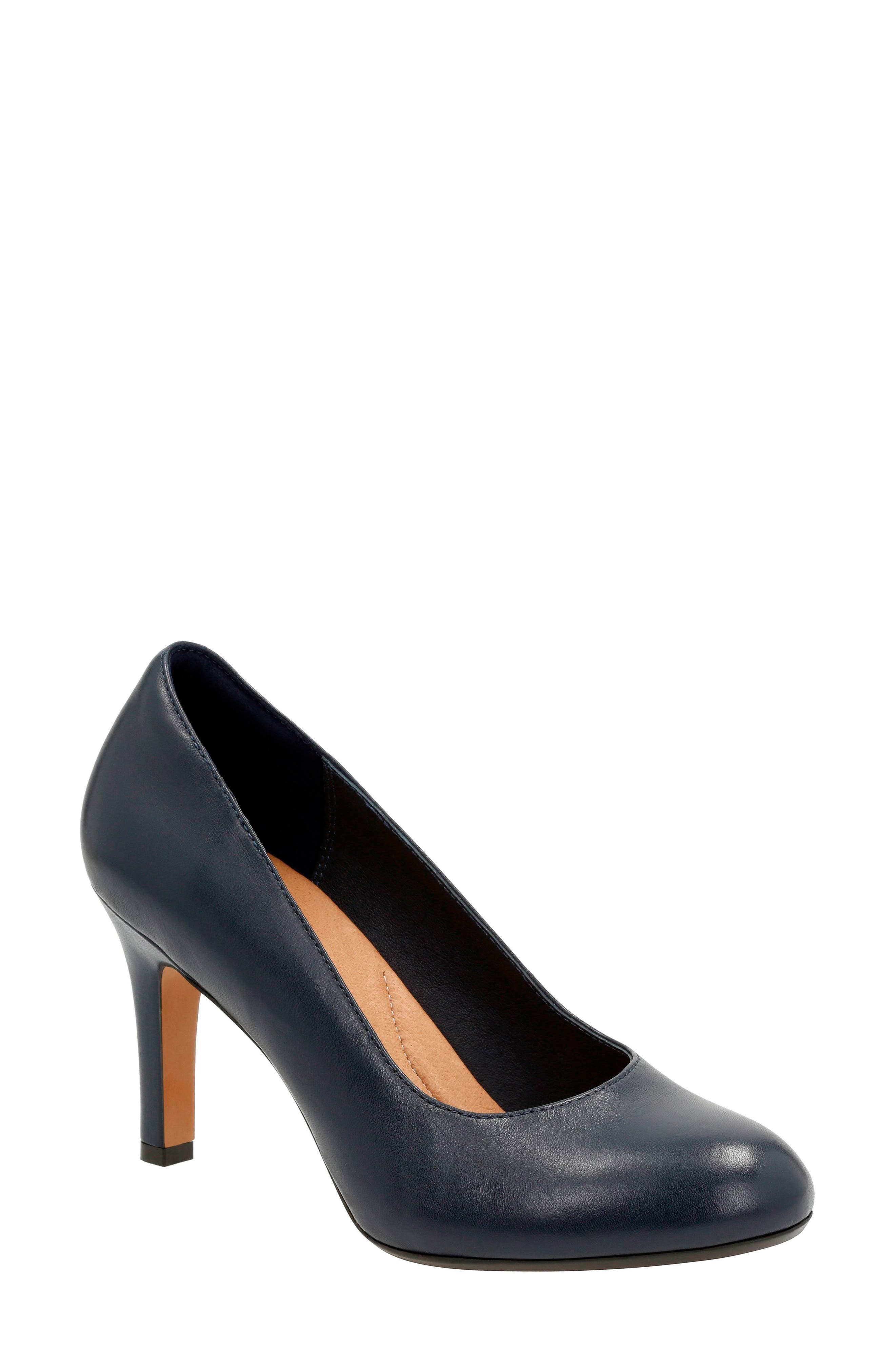 'Heavenly Star' Pump,                             Main thumbnail 1, color,                             Navy Leather