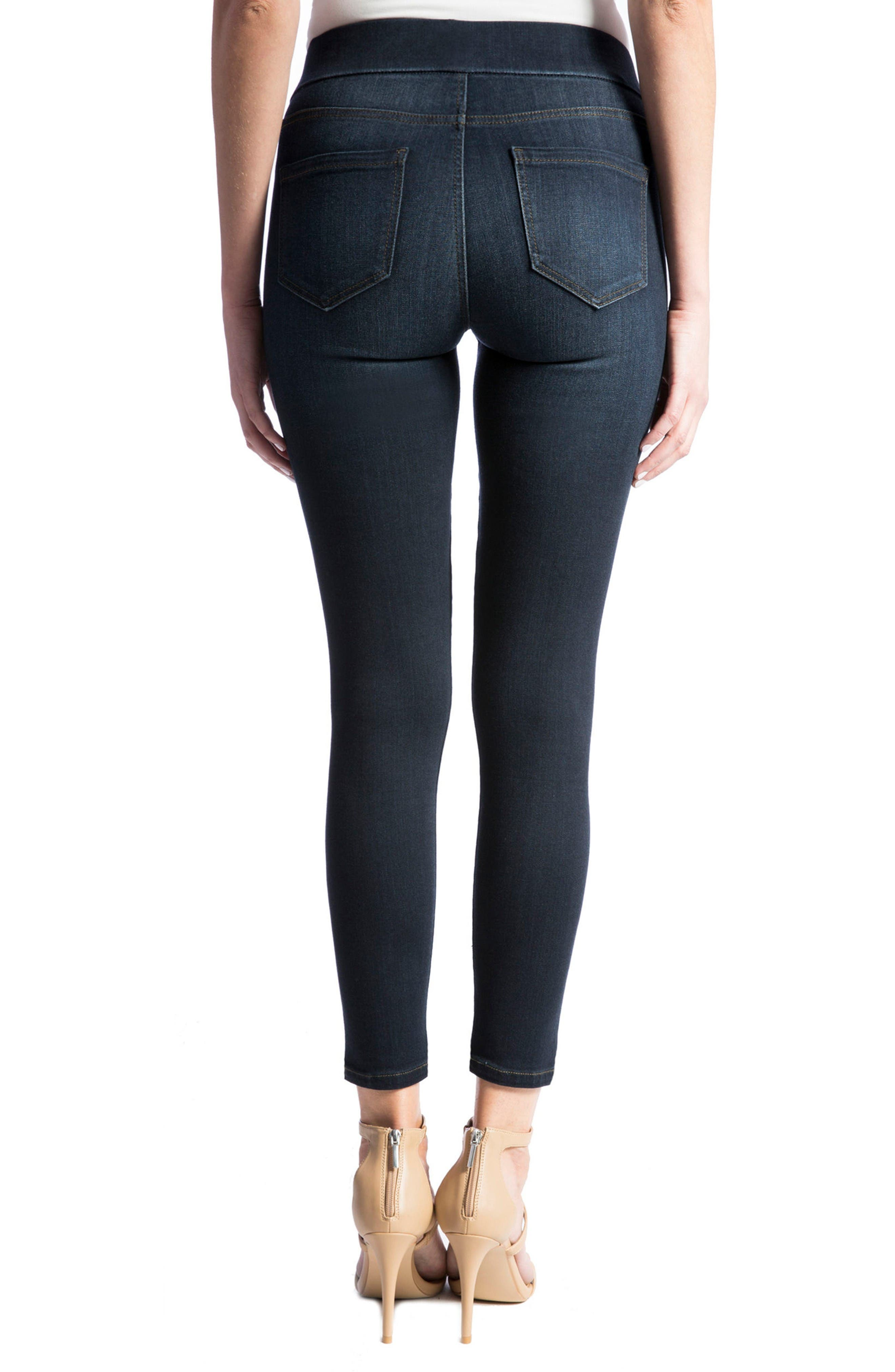 Alternate Image 3  - Liverpool Jeans Company High Rise Stretch Denim Ankle Leggings (Dynasty Dark) (Regular & Petite)