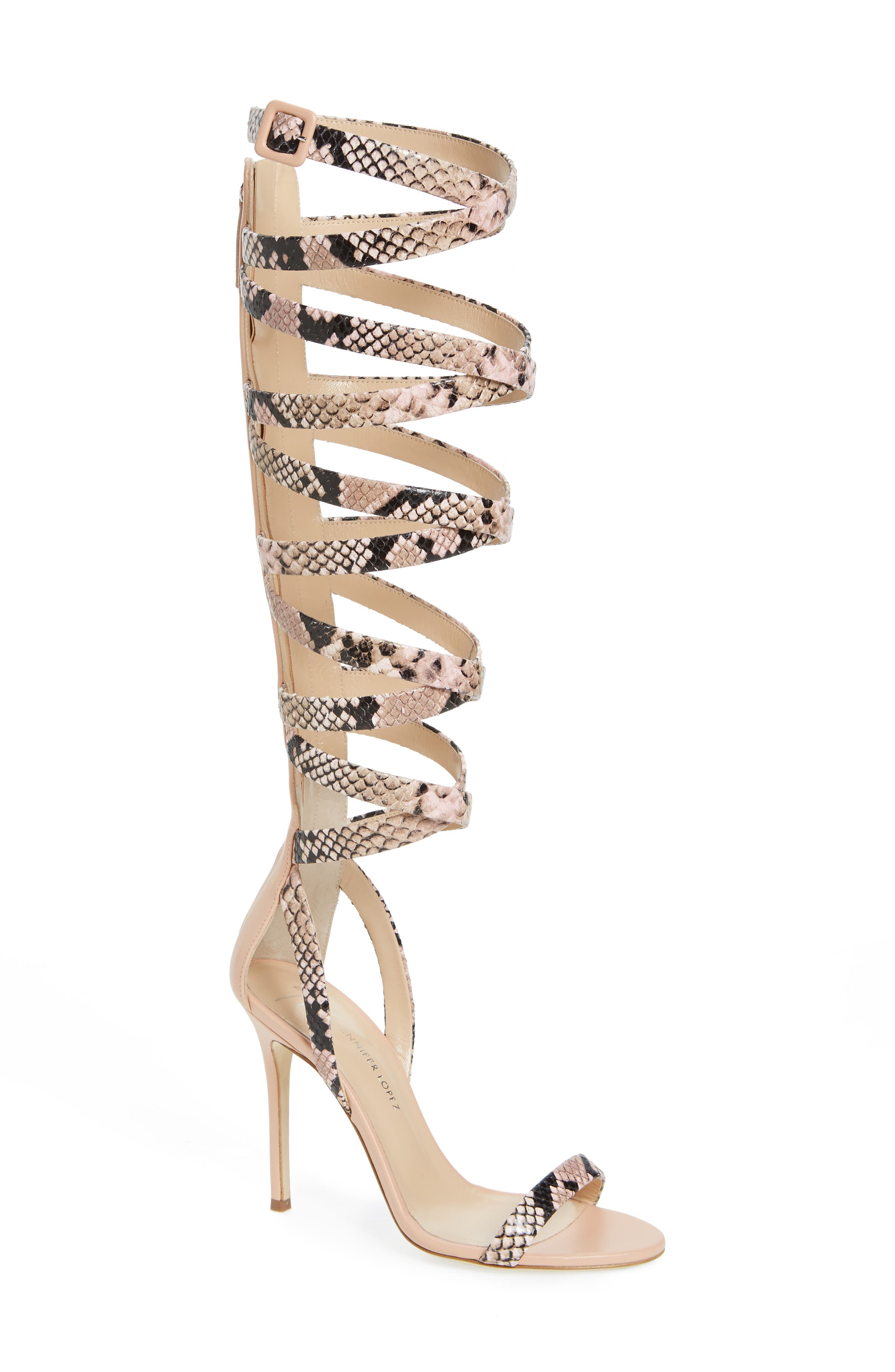 GIUSEPPE ZANOTTI Giuseppe for Jennifer Lopez Emme Knee-High Gladiator Sandal