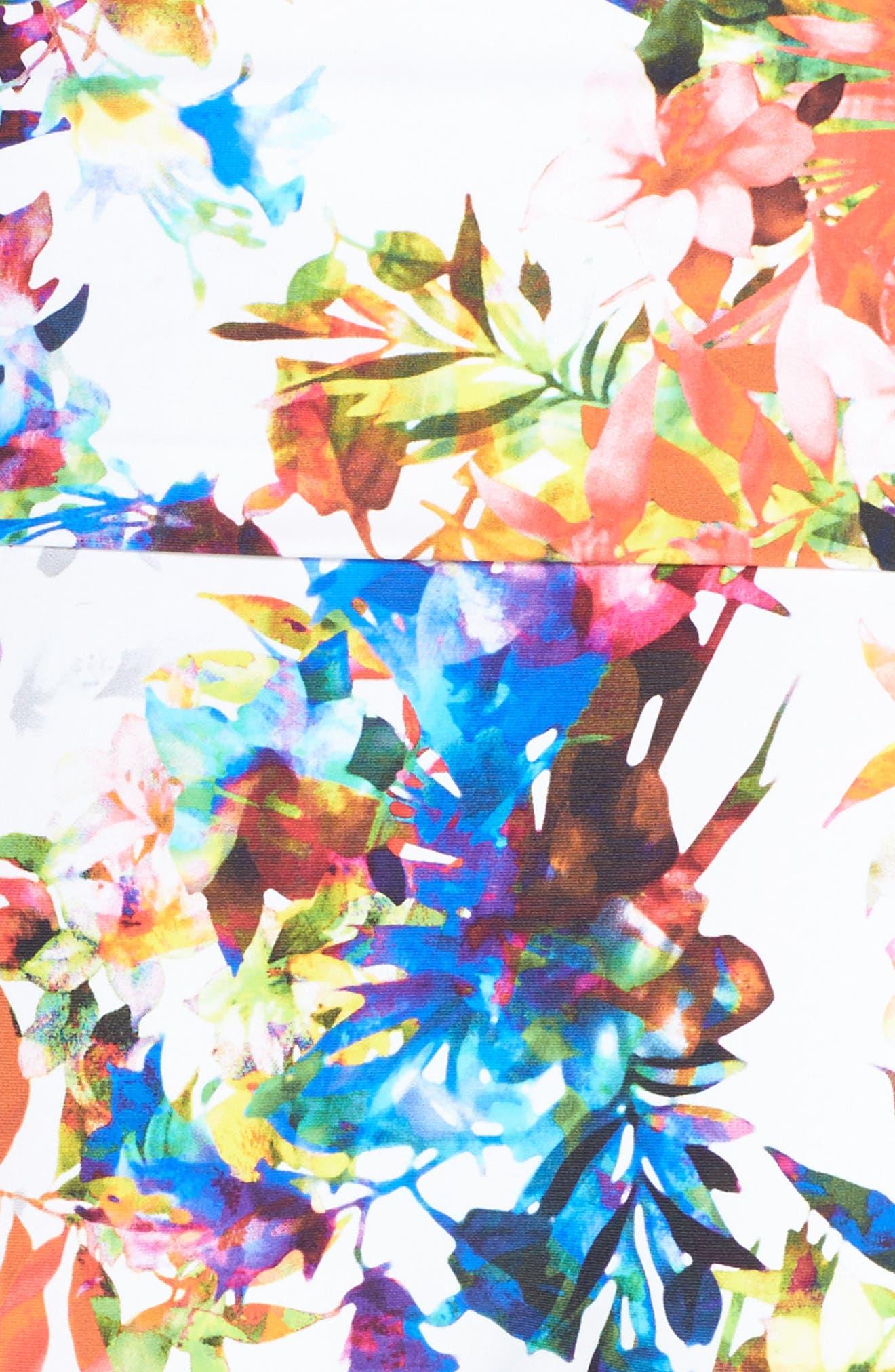 Agra Foldover Waist Bikini Bottoms,                             Alternate thumbnail 5, color,                             White Multi