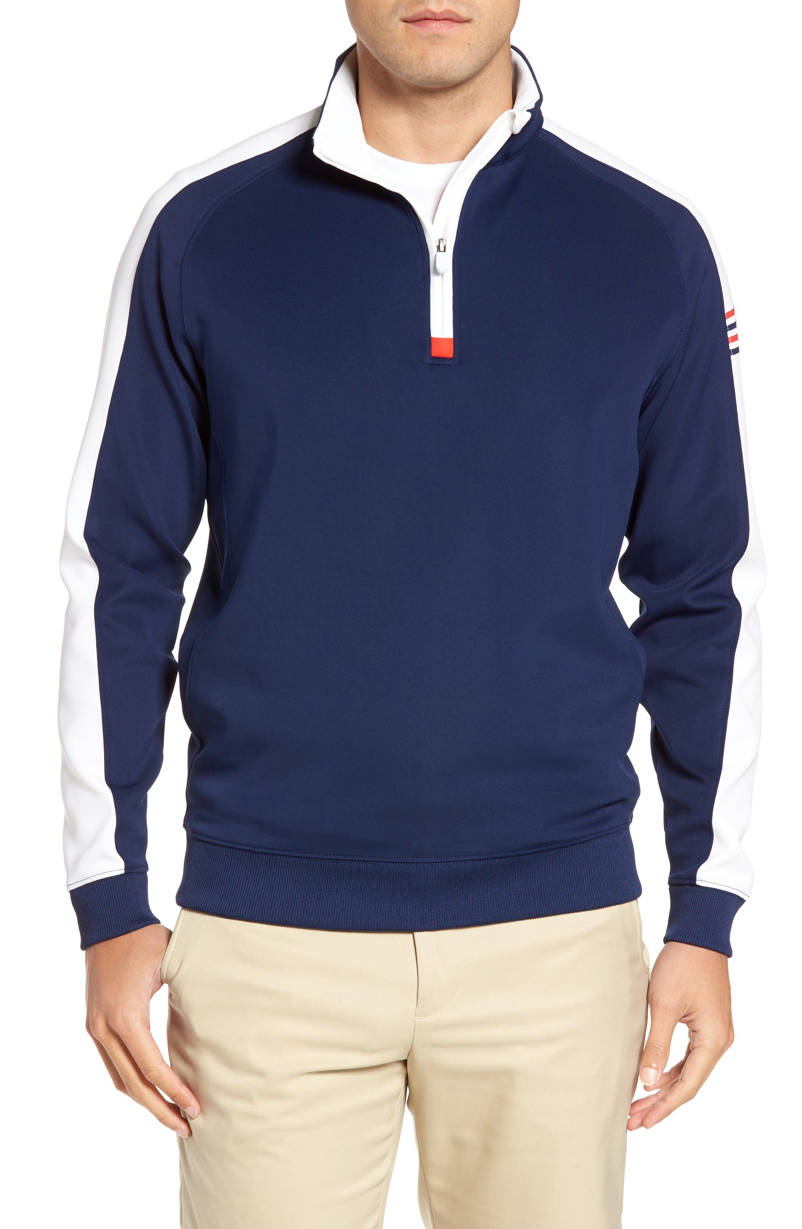 BOBBY JONES XH20 Tech Quarter Zip Sweater
