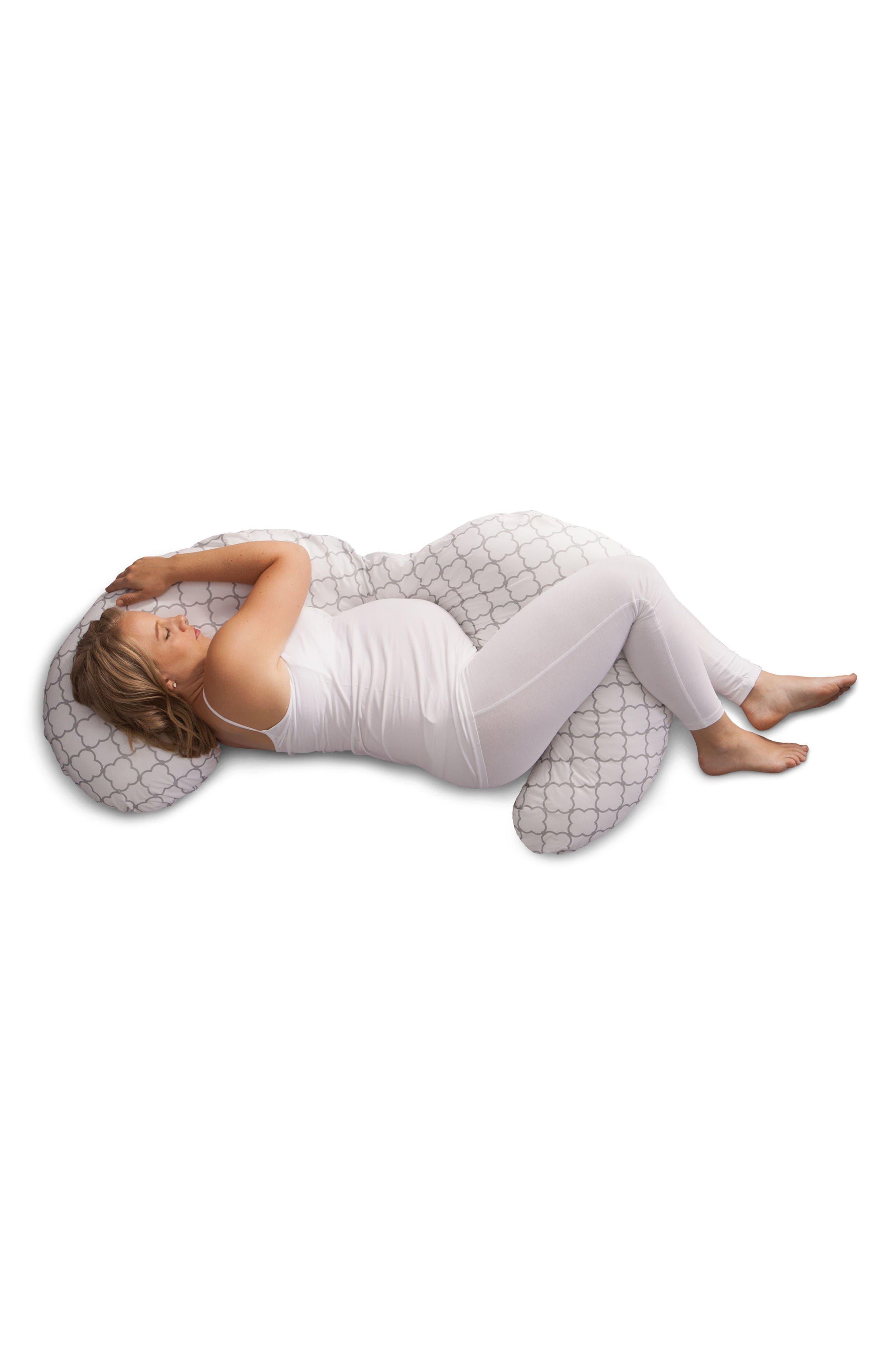 Total Pregnancy Support Pillow,                             Alternate thumbnail 2, color,                             White Trellis