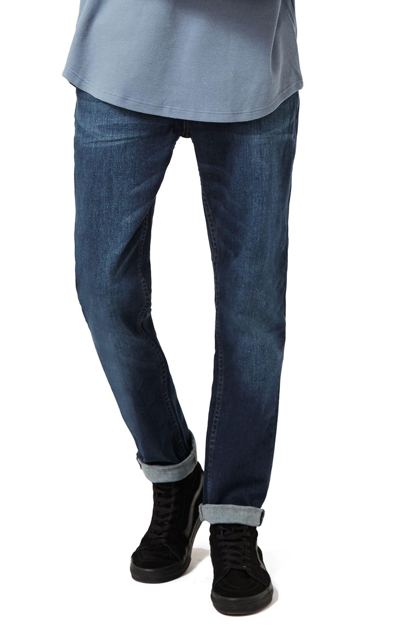 Stretch Slim Fit Jeans,                         Main,                         color, Mid Blue