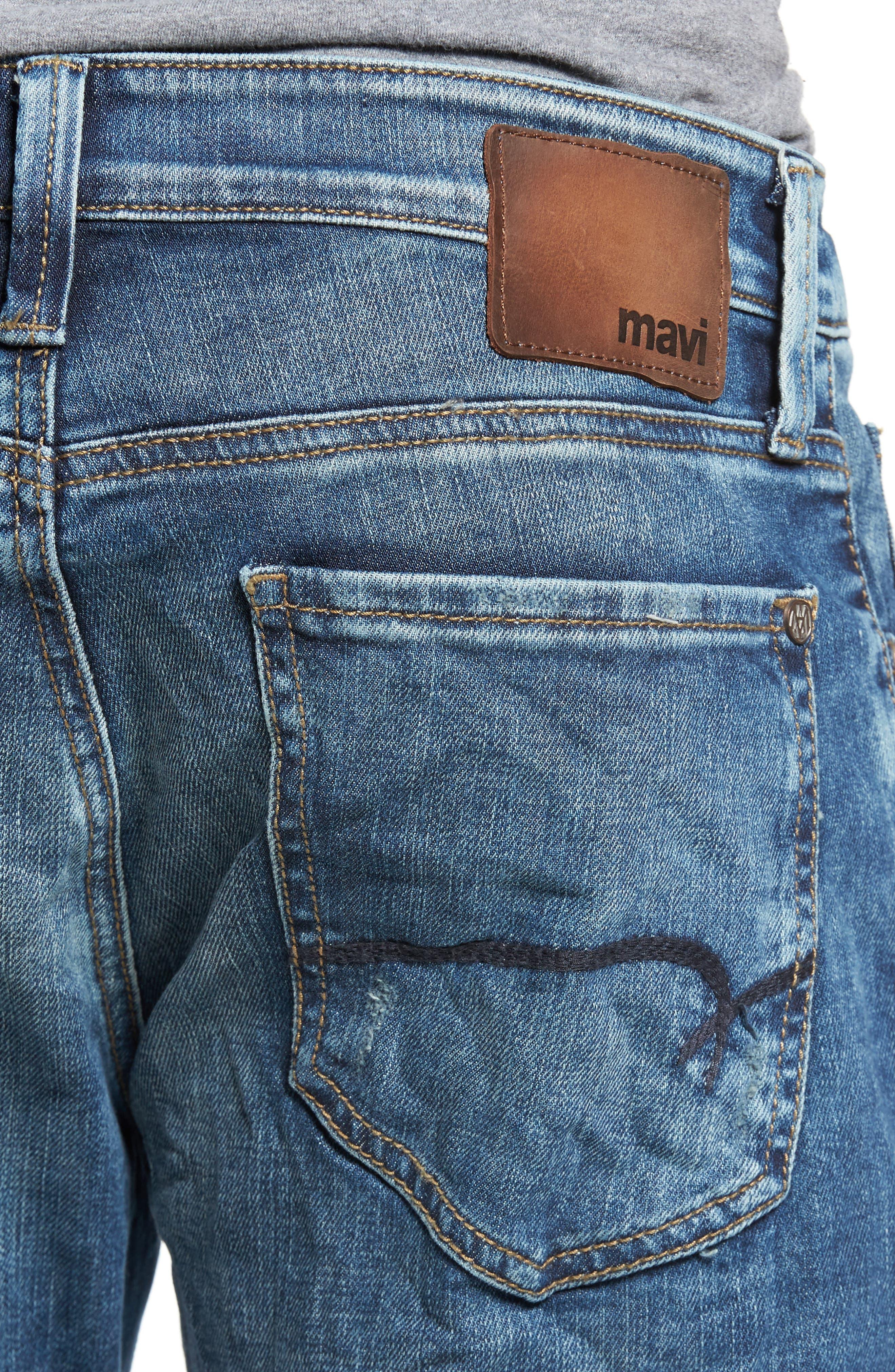 Jake Easy Slim Fit Jeans,                             Alternate thumbnail 4, color,                             Random Extreme Vintage