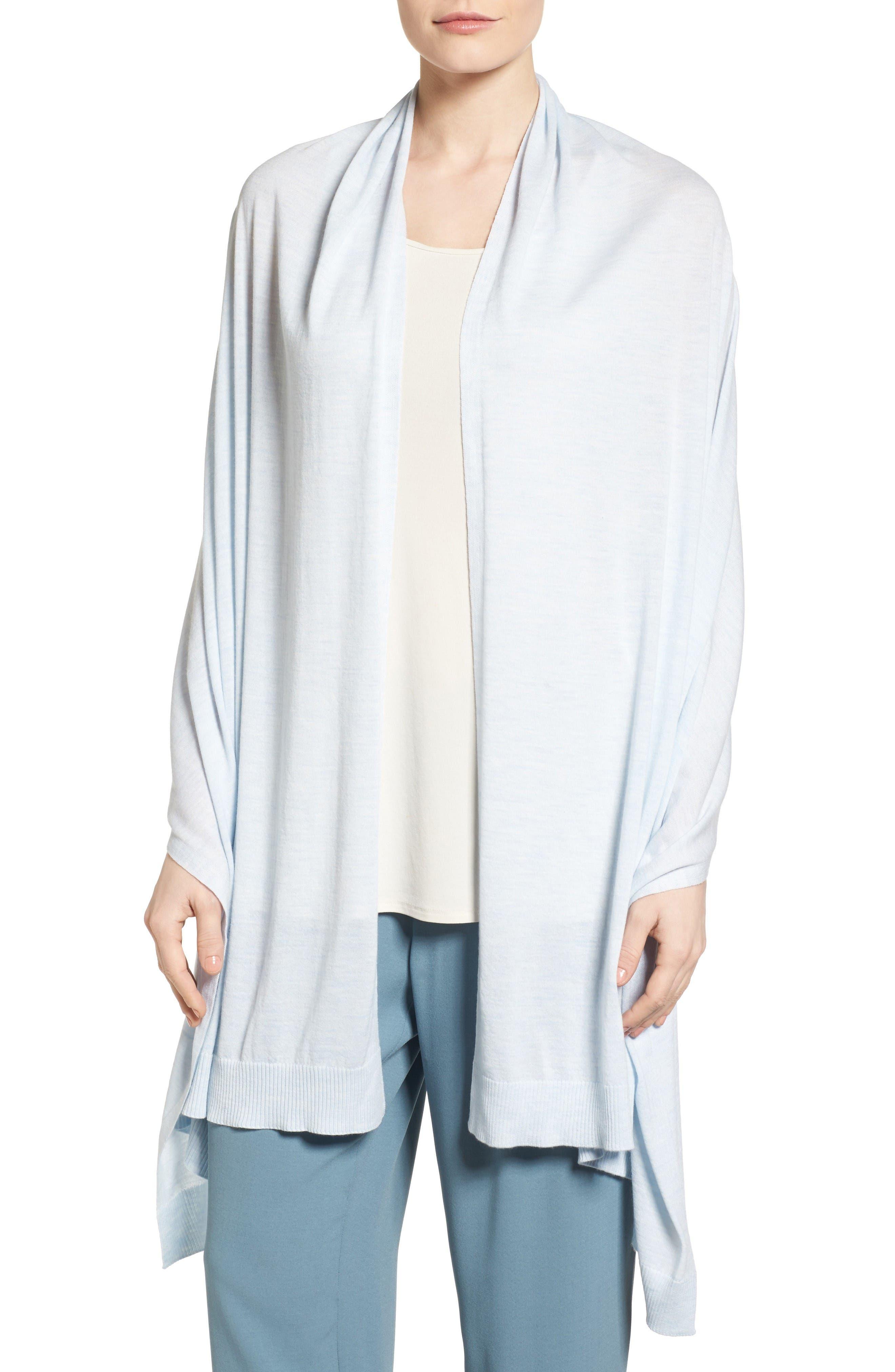 Alternate Image 1 Selected - Eileen Fisher Merino Wool Shawl