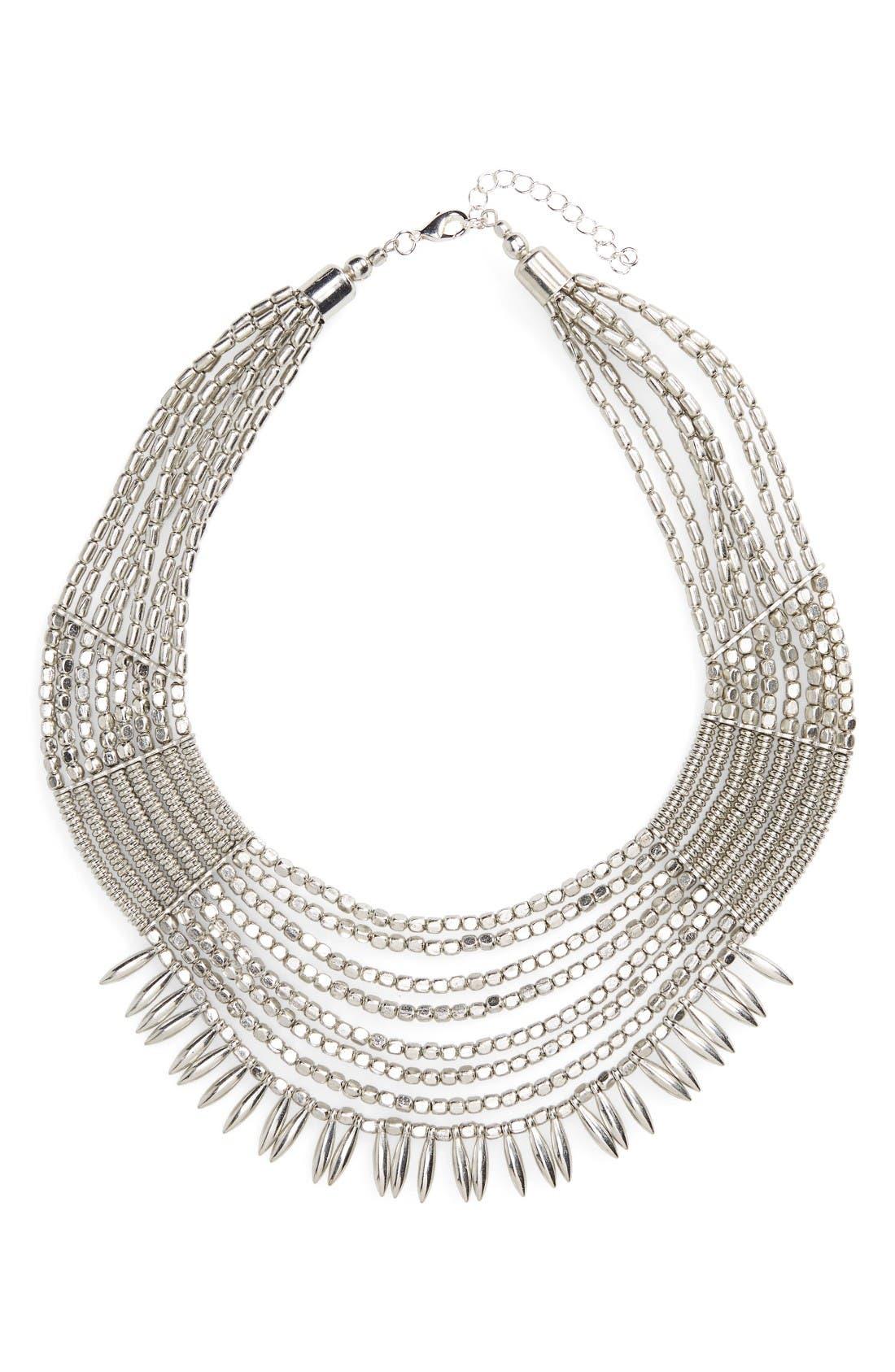 Main Image - Panacea Beaded Collar Statement Necklace