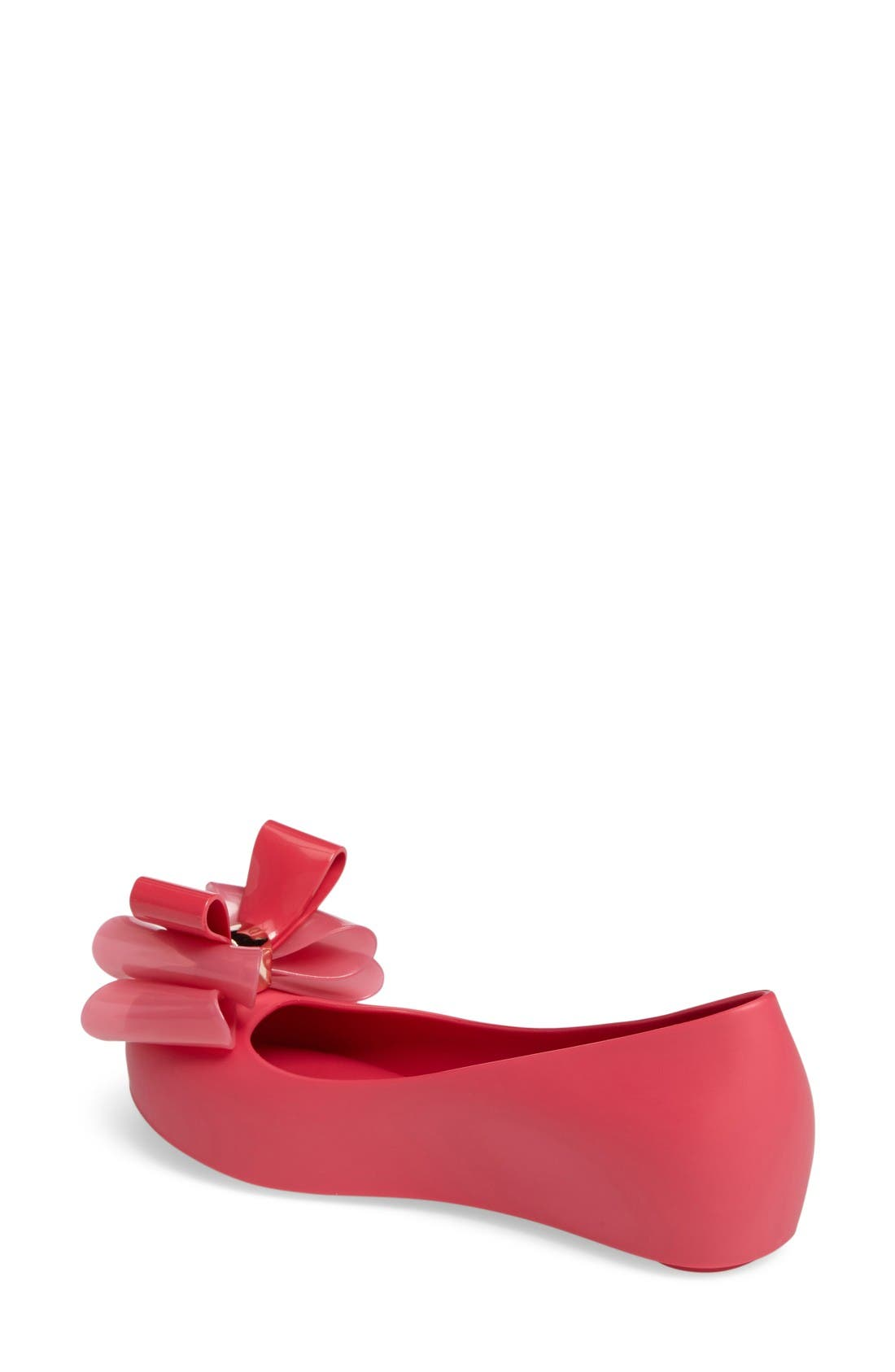Ultragirl Sweet II Peep Toe Flat,                             Alternate thumbnail 2, color,                             Fuchsia