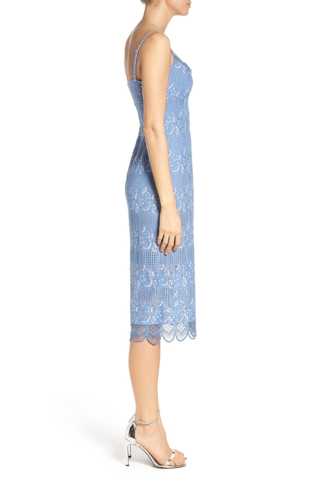 Alternate Image 3  - NSR Floral Lace Slipdress