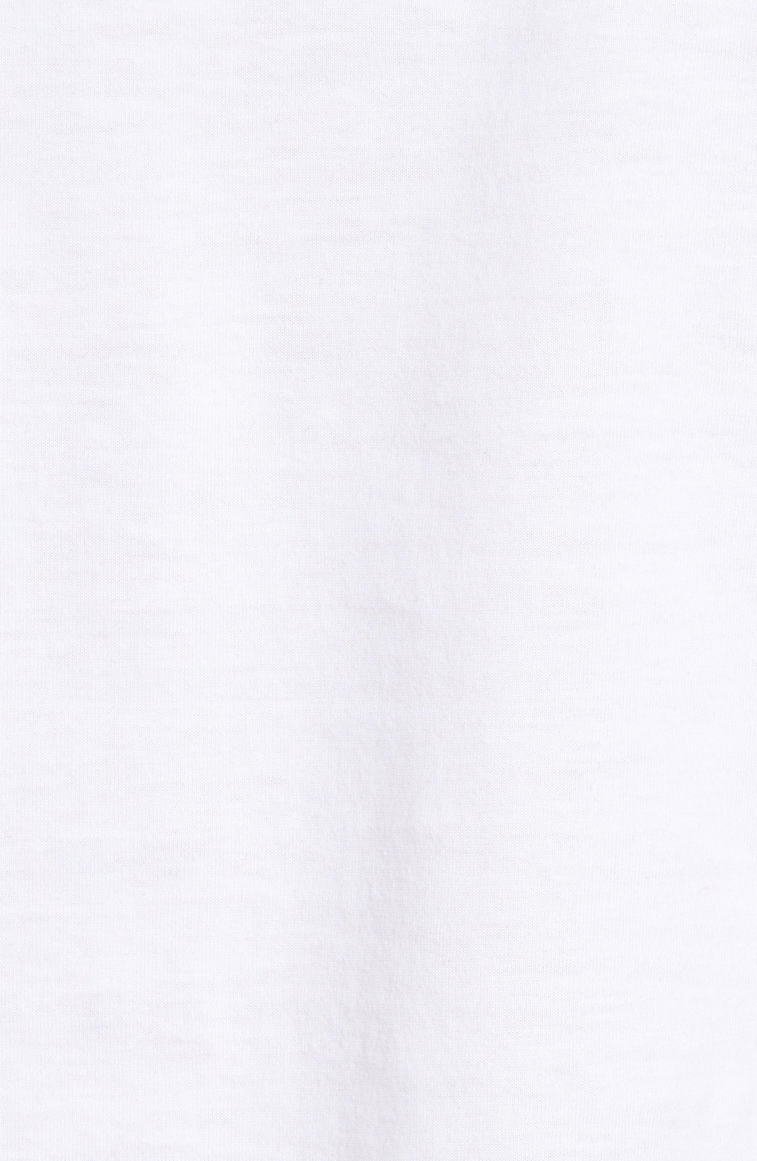 Alternate Image 6  - Nordstrom Men's Shop 4-Pack Trim Fit Supima® Cotton V-Neck T-Shirts