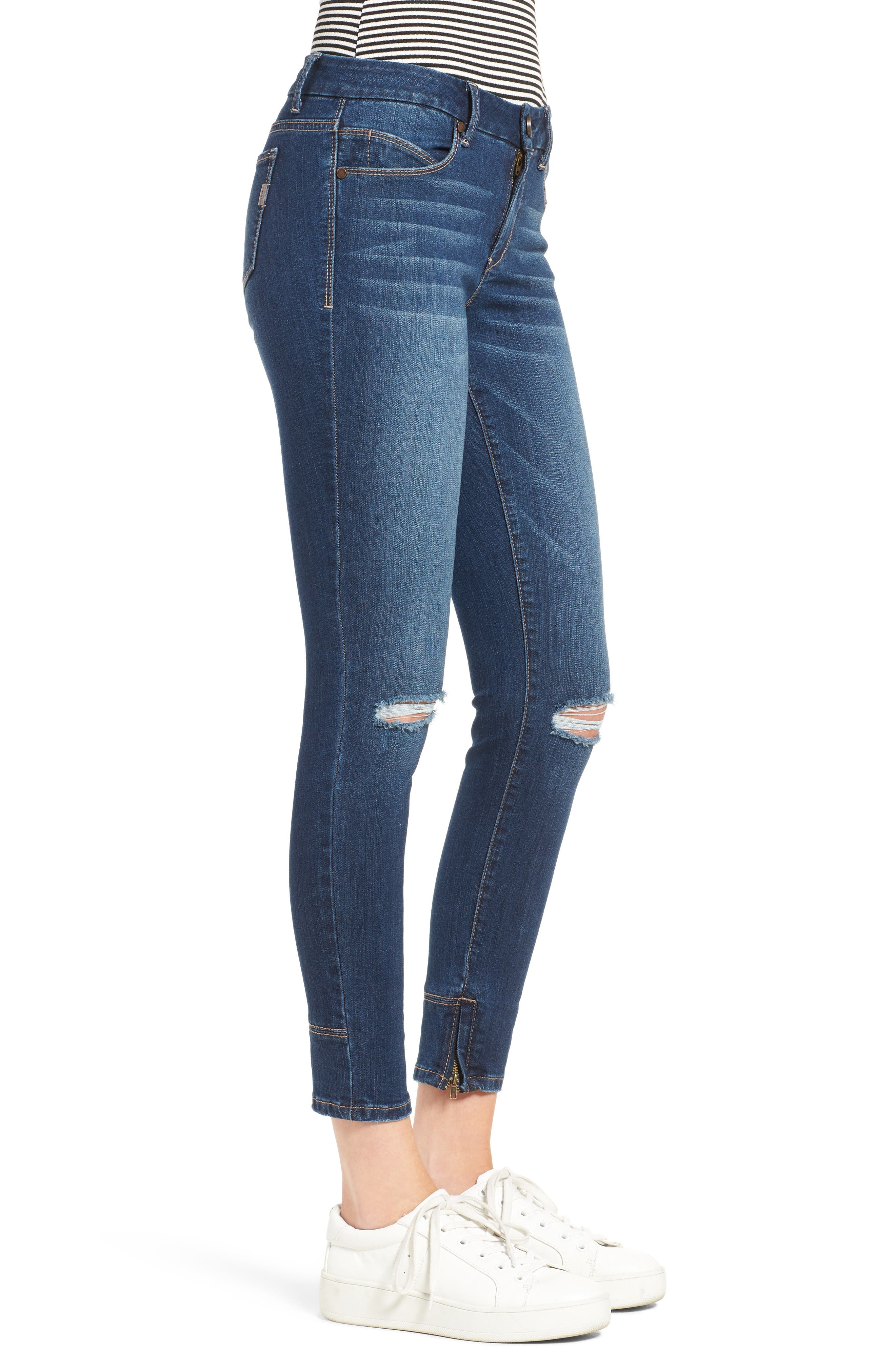 Alternate Image 3  - 1822 Denim Ankle Skinny Jeans (Athens)