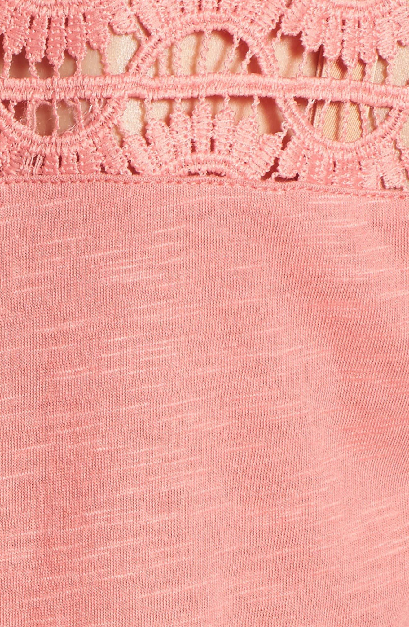 Alternate Image 5  - Caslon® Lace Yoke Knit Top (Regular and Petite)