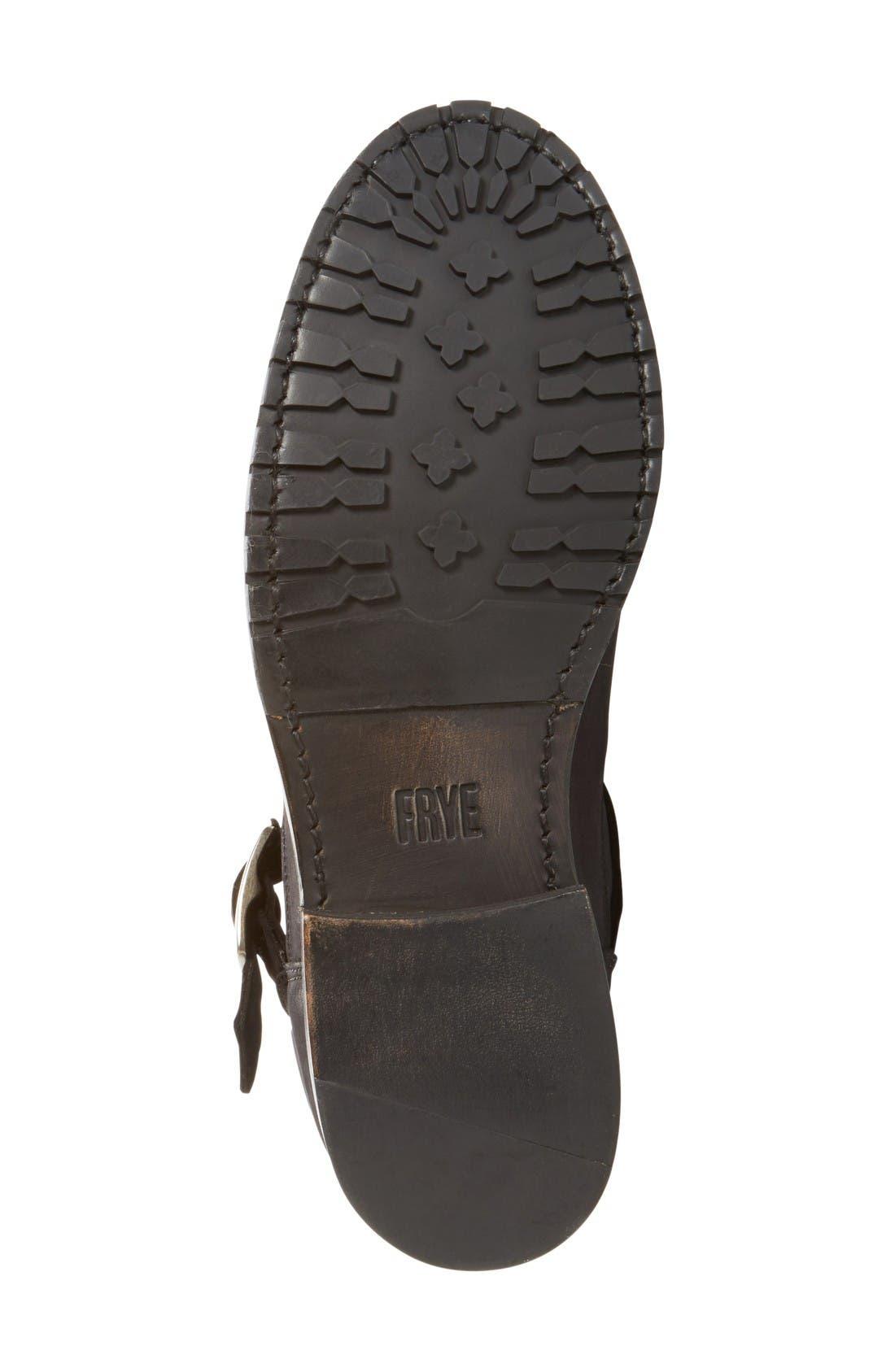 'Natalie' Engineer Boot,                             Alternate thumbnail 4, color,                             Black/ Black