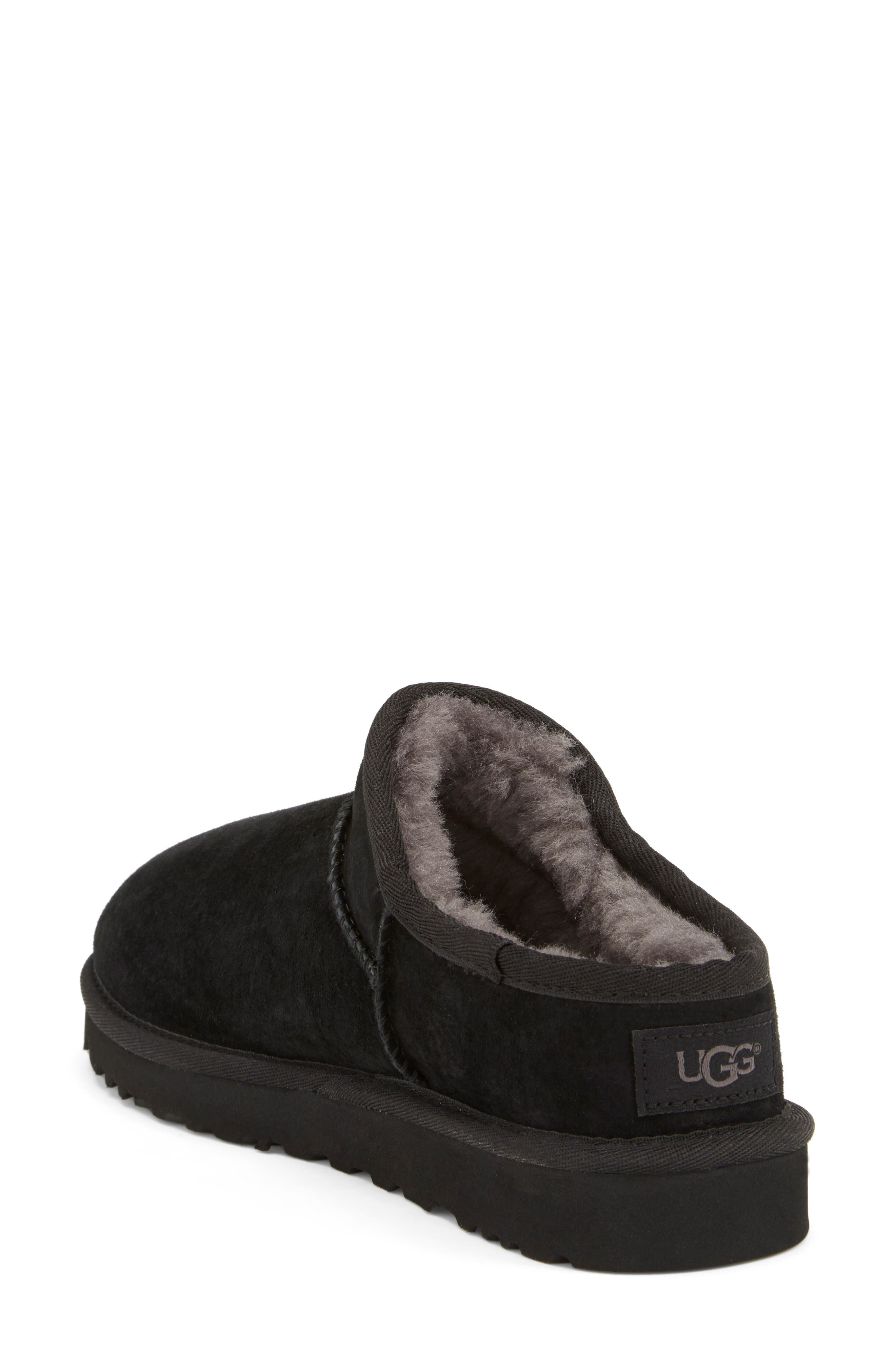 Classic Water Resistant Slipper,                             Alternate thumbnail 2, color,                             Black