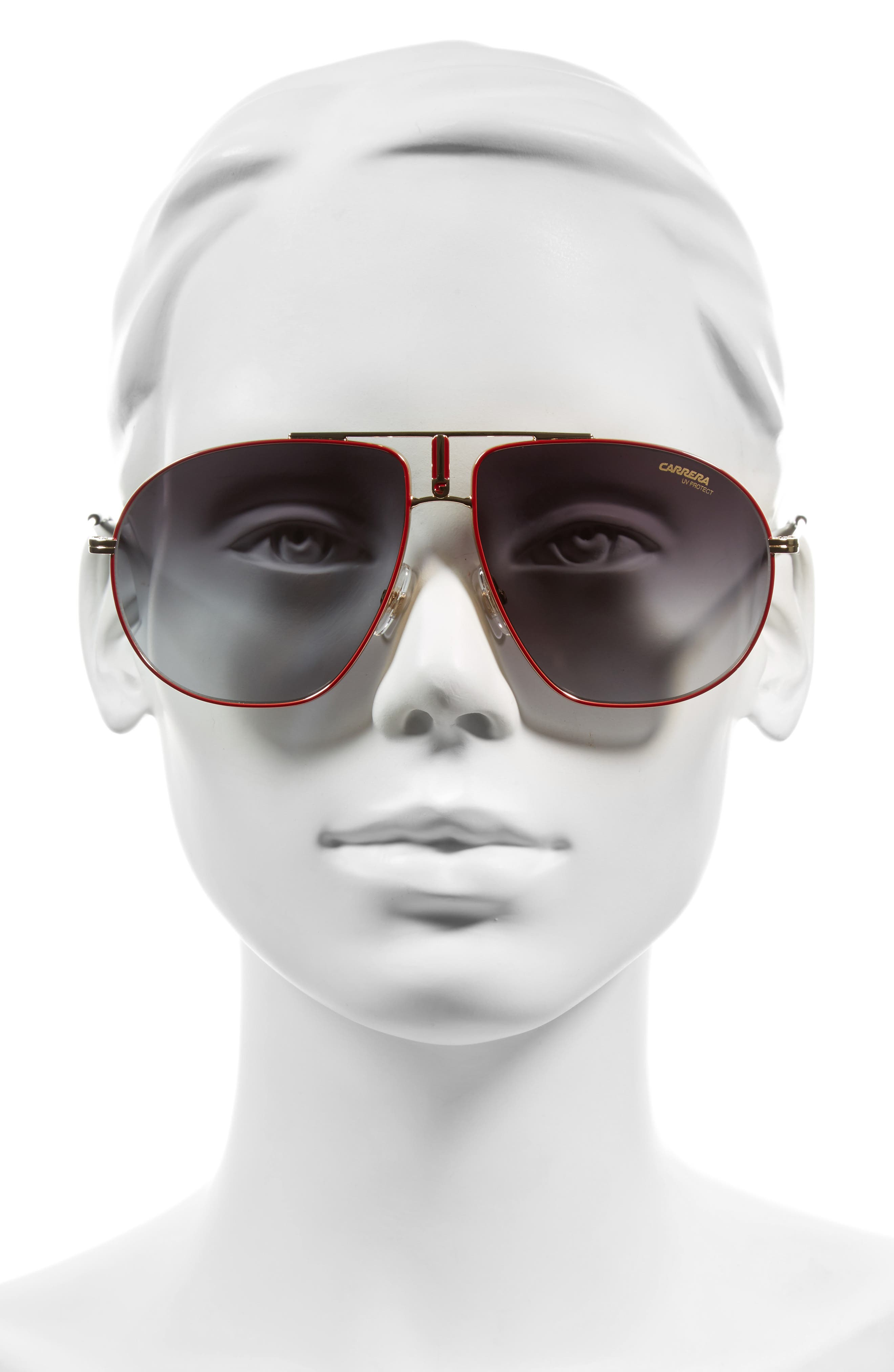 Carrera Bound 62mm Sunglasses,                             Alternate thumbnail 2, color,                             Red Gold