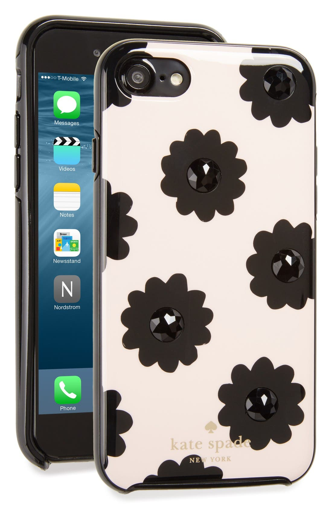 Main Image - kate spade new york jeweled floral iPhone 7 case