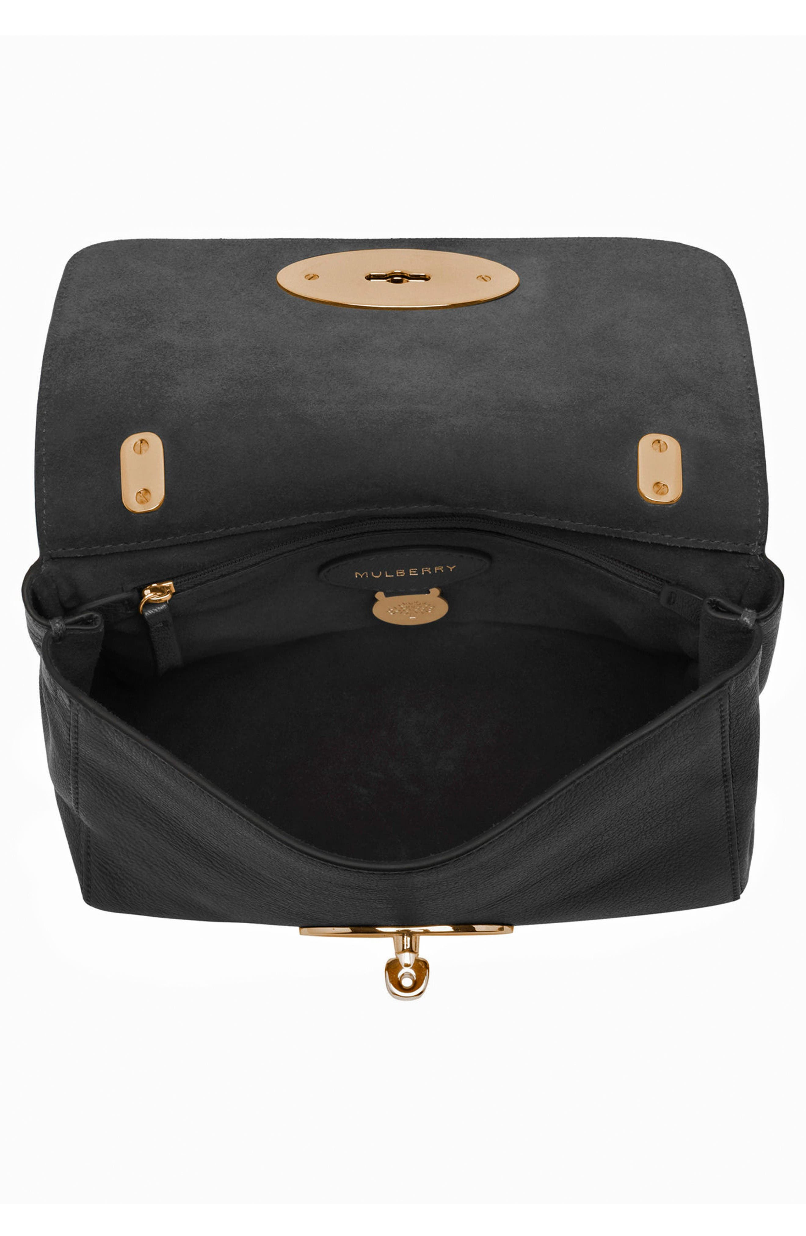 Alternate Image 3  - Mulberry Lily Glossy Leather Crossbody Clutch