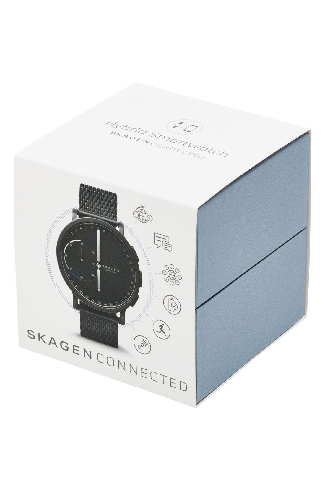 Alternate Image 4  - Skagen Hagen Connected Mesh Strap Hybrid Smart Watch, 42mm