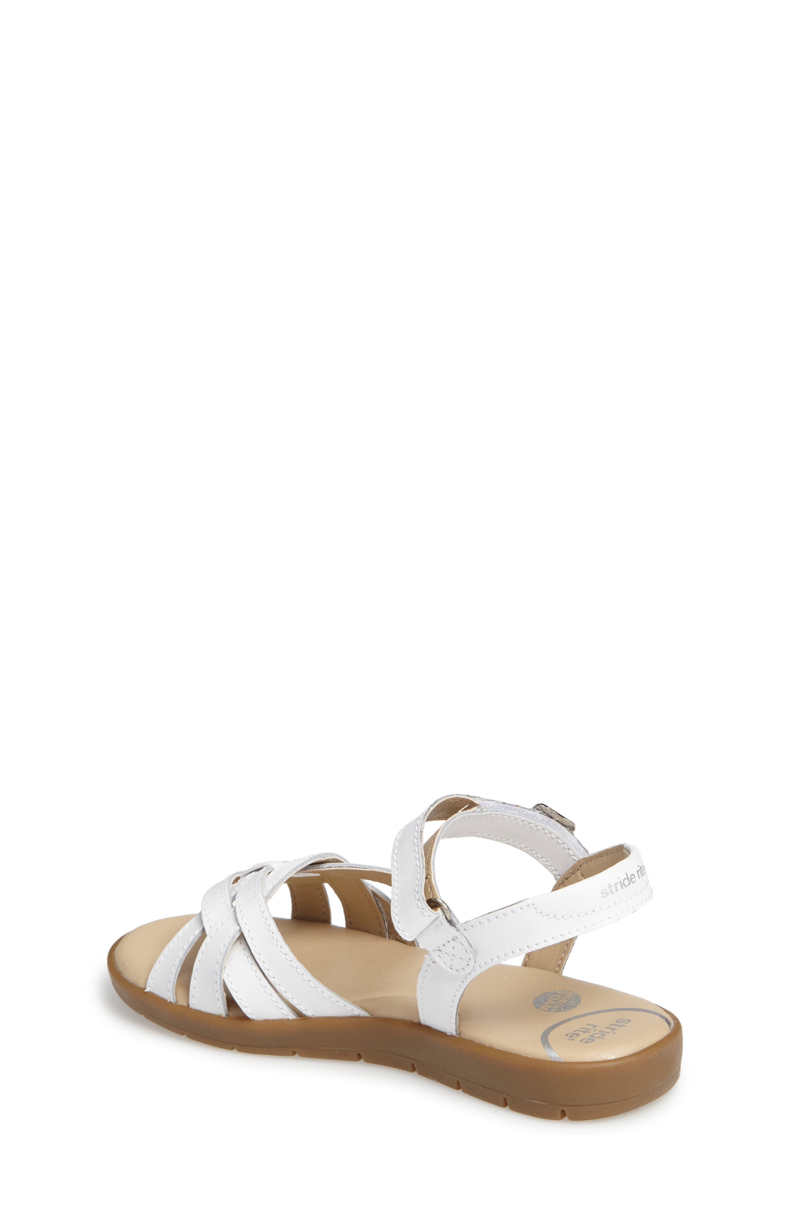 Millie Sandal,                             Alternate thumbnail 2, color,                             White
