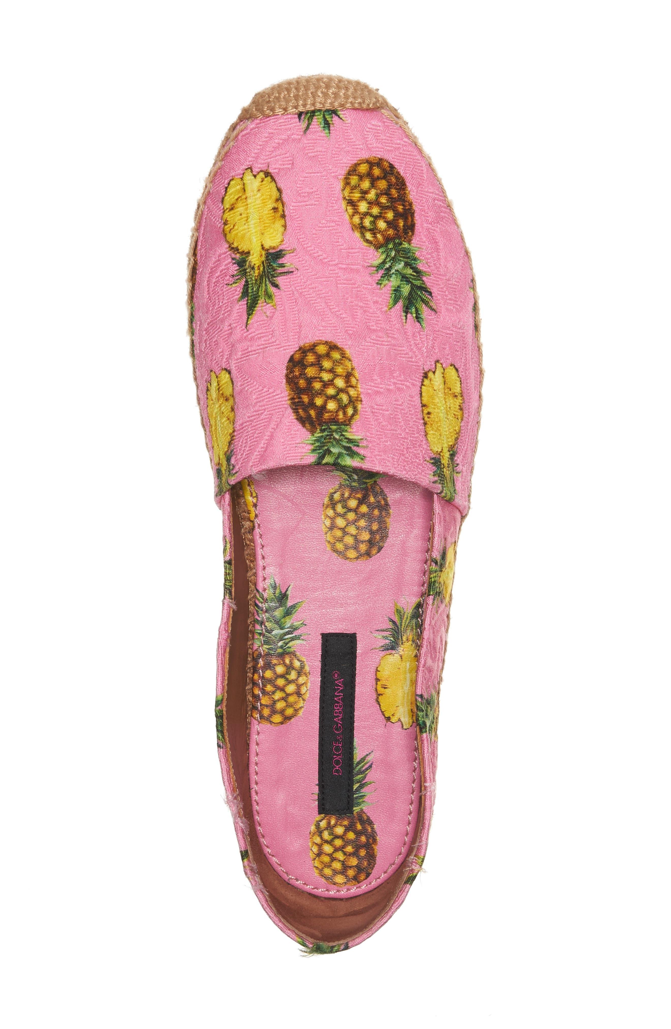 Alternate Image 3  - Dolce&Gabbana Pineapple Print Espadrille Flat (Women)