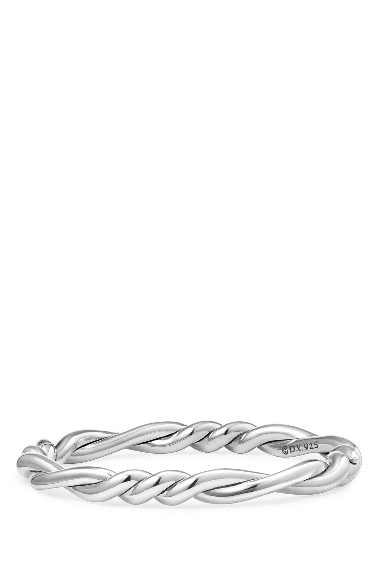 Continuance Center Twist Bracelet,                         Main,                         color, Silver