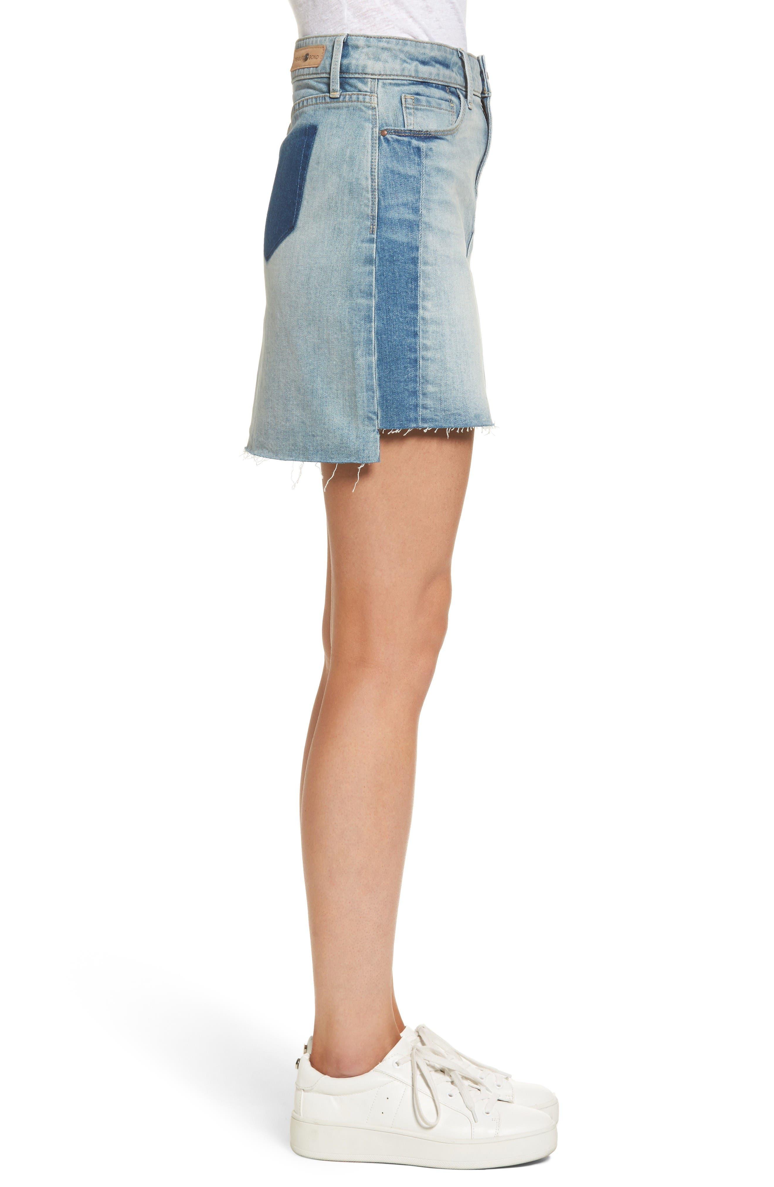 Alternate Image 3  - Treasure & Bond Raw Hem Denim Miniskirt