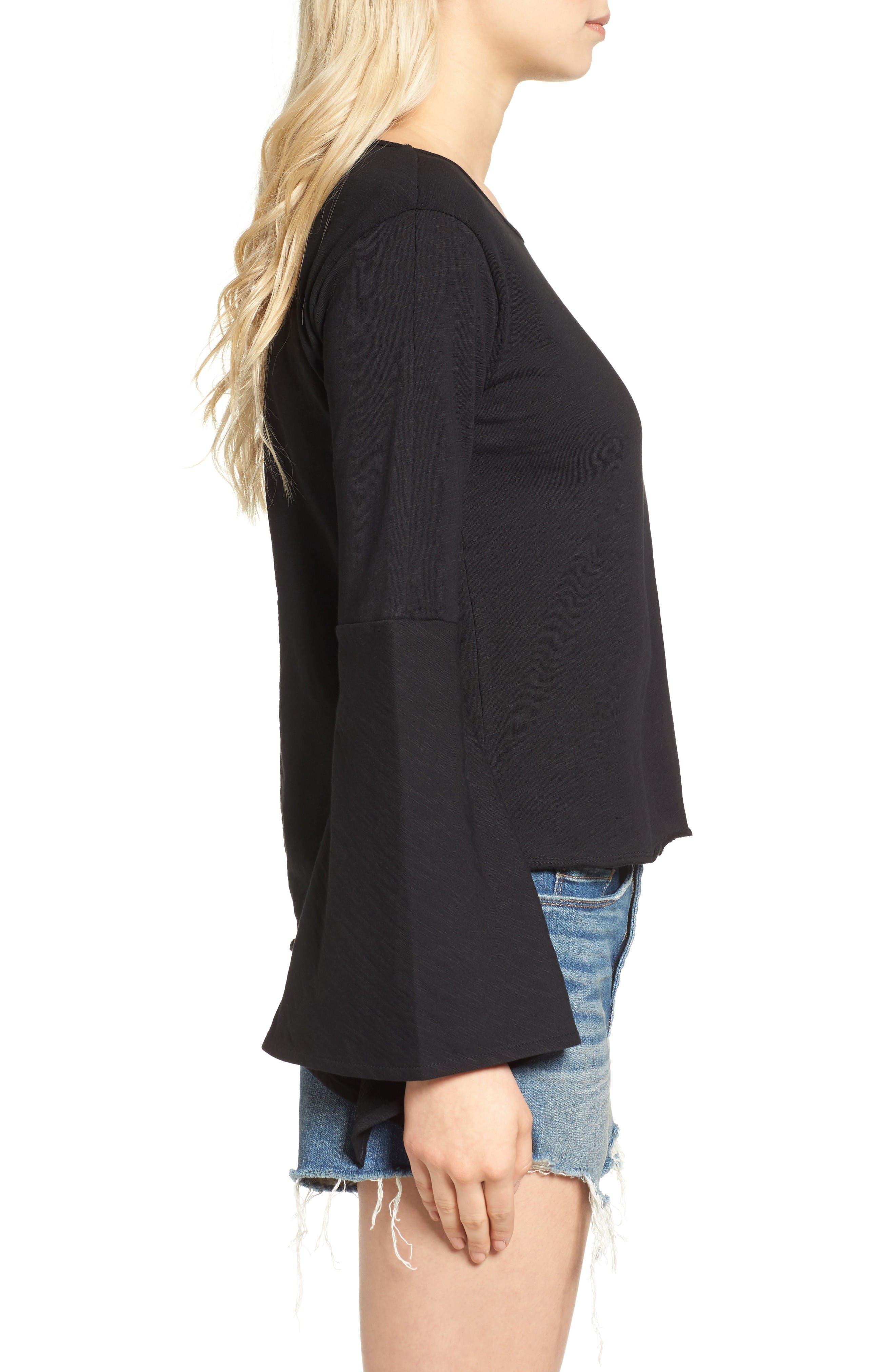 Alternate Image 3  - BLANKNYC Shadow Bell Sleeve Top