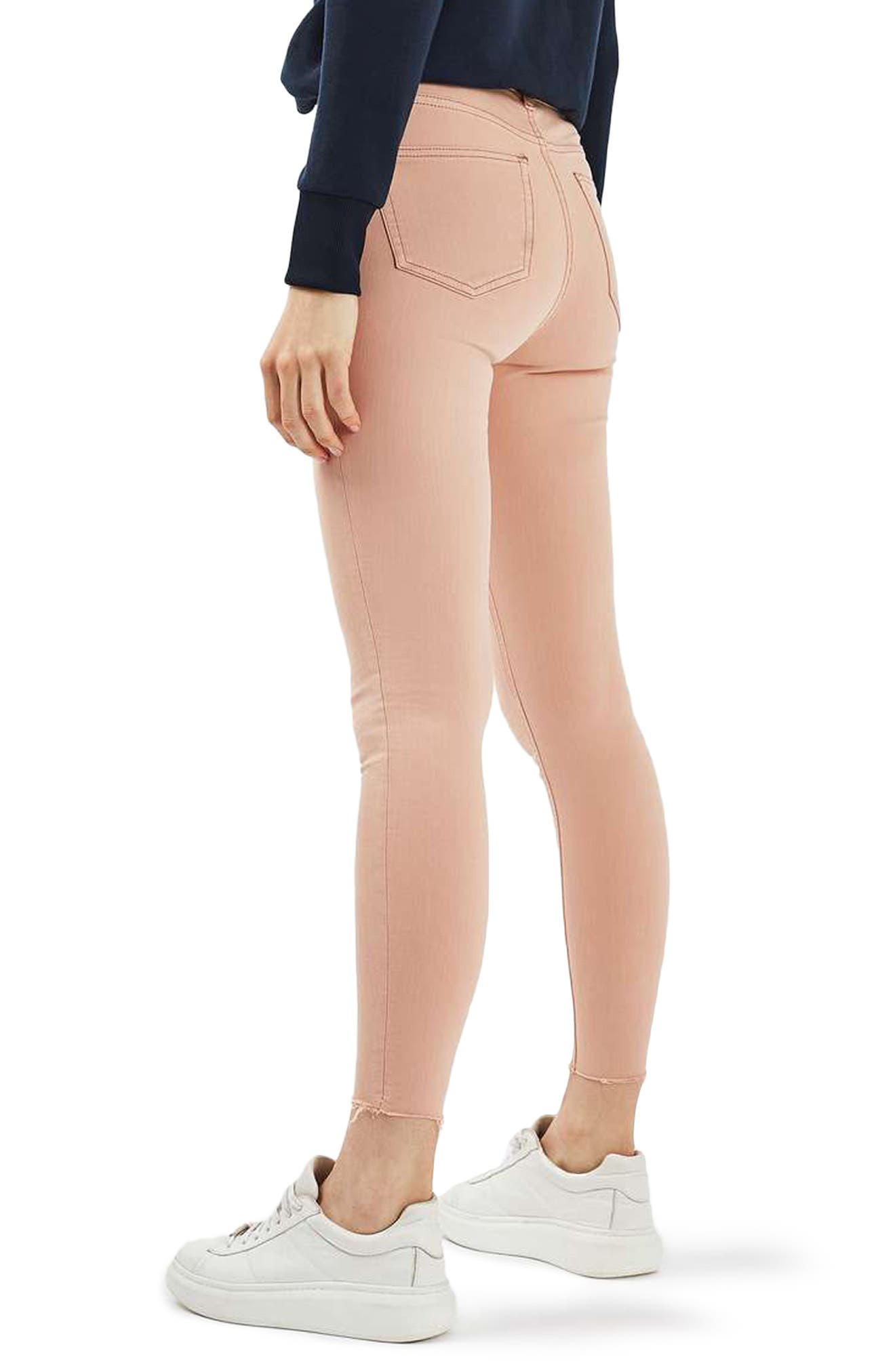 Alternate Image 3  - Topshop Jamie Raw Hem Skinny Jeans (Dusky Pink)