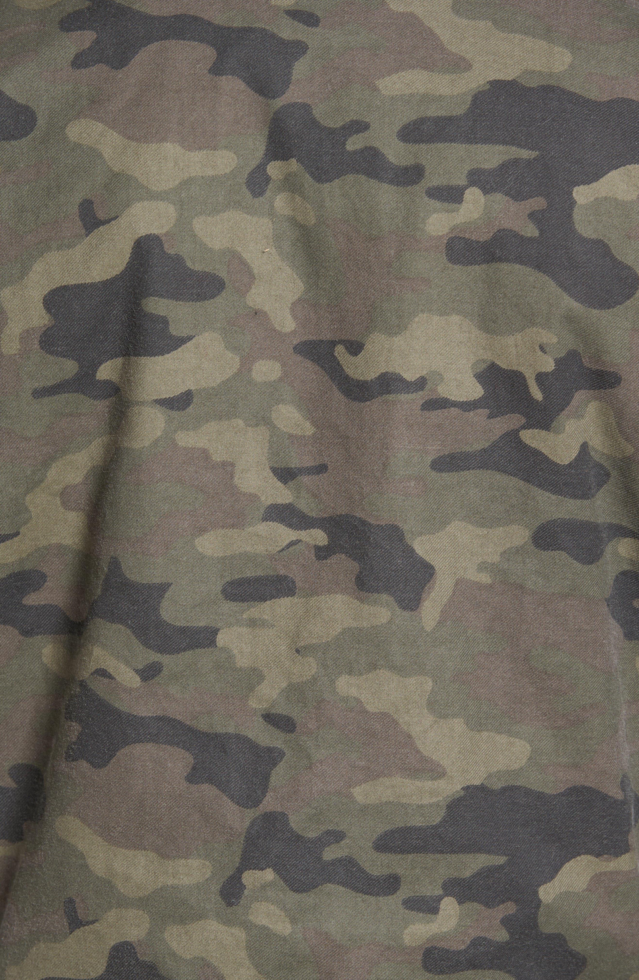 Knox Twill Bomber Jacket,                             Alternate thumbnail 5, color,                             Infantry Camo