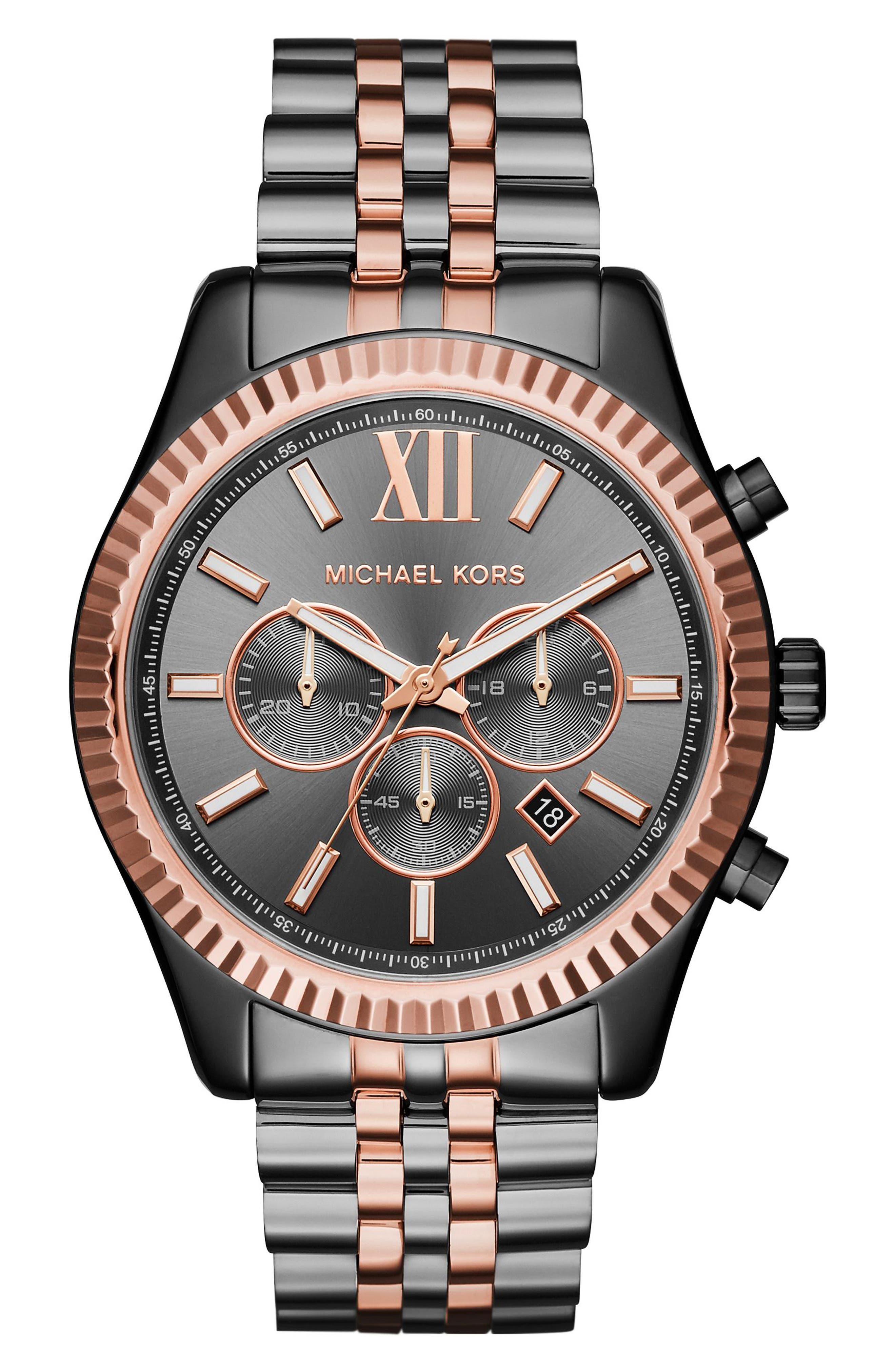 Alternate Image 1 Selected - Michael Kors'Lexington' Chronograph Bracelet Watch,44mm