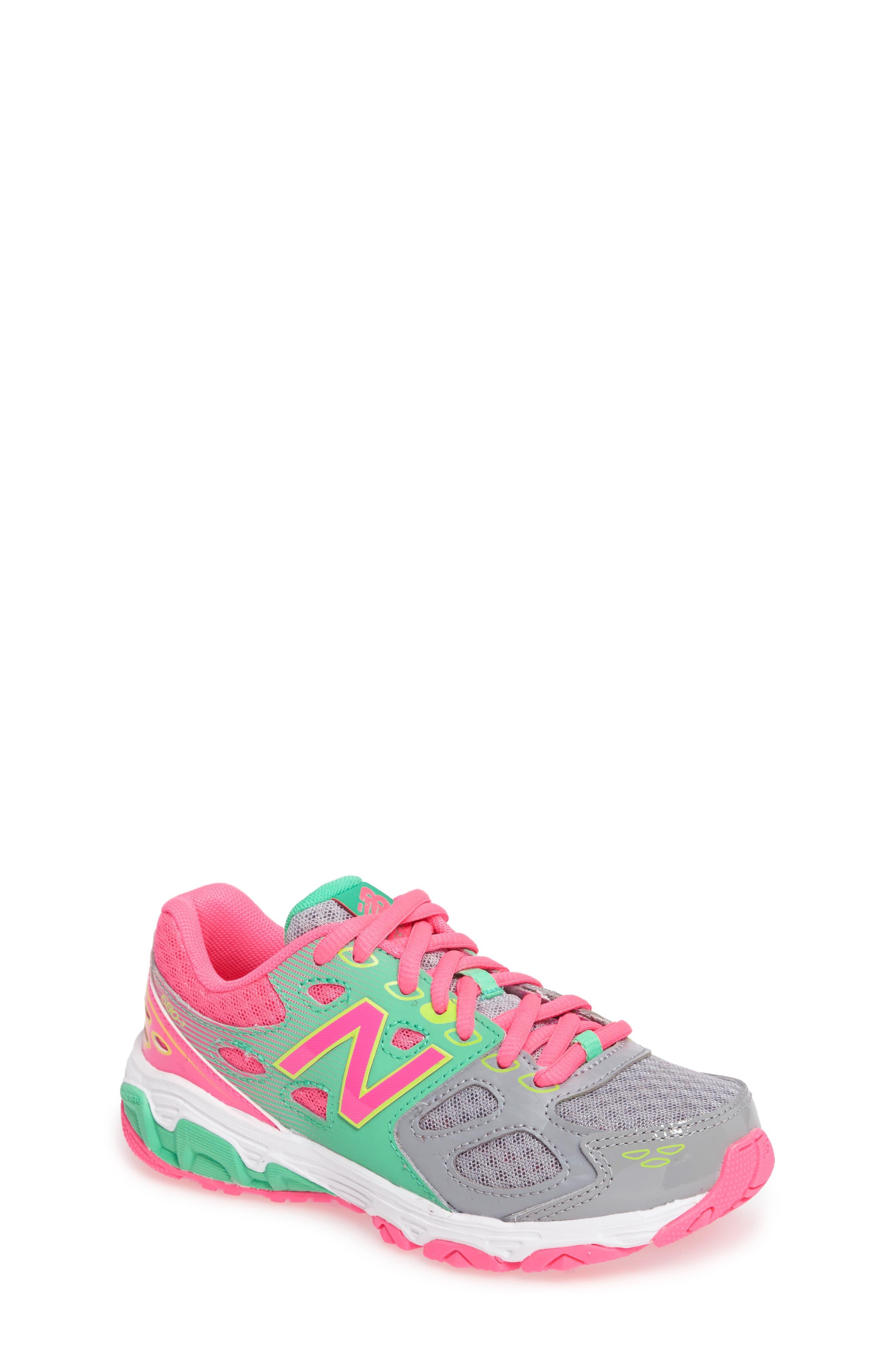 680v3 Sneaker,                             Main thumbnail 1, color,                             Grey/Pink