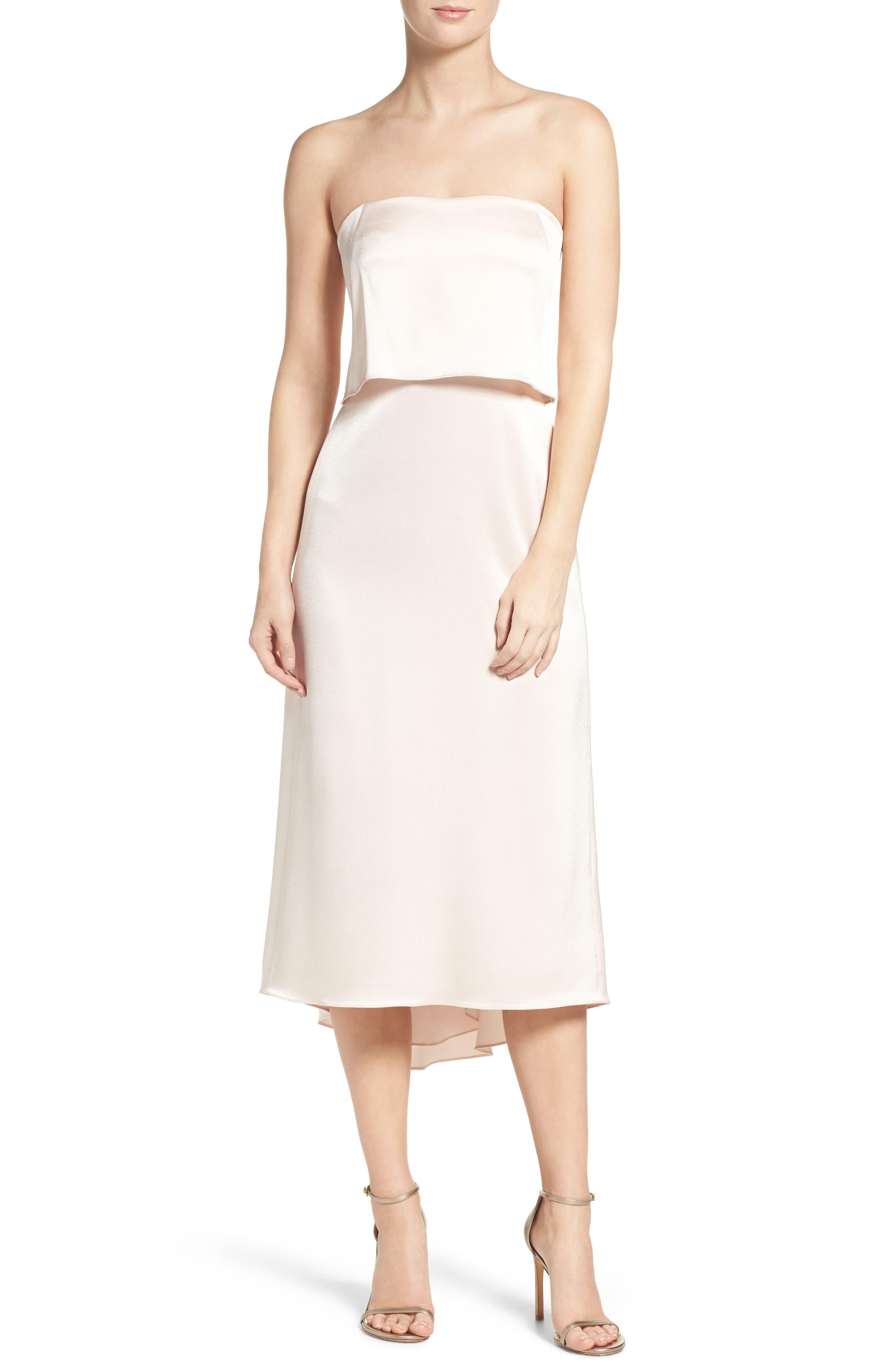 Main Image - Halston Heritage Strapless Dress