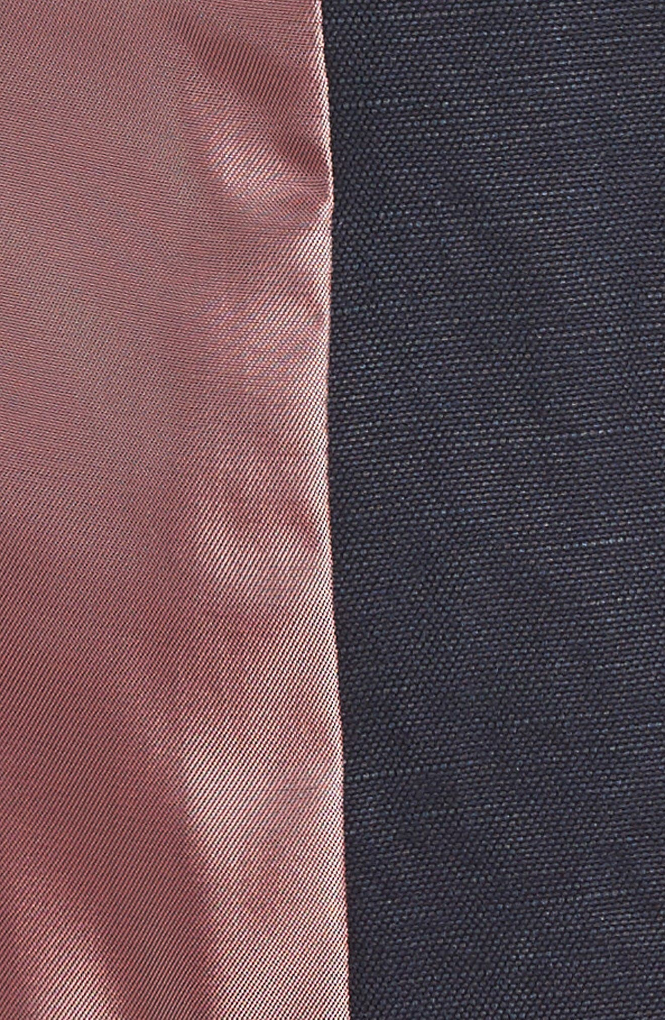 Hootie Solid Cotton & Linen Vest,                             Alternate thumbnail 5, color,                             Navy