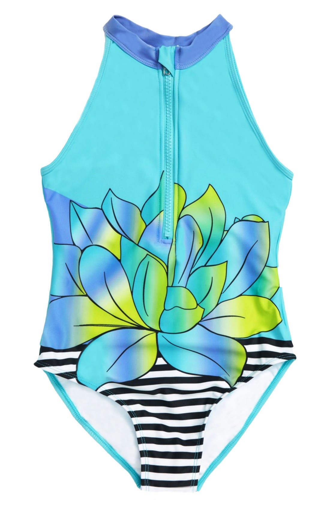 Limeapple Sirene One-Piece Swimsuit (Little Girls)
