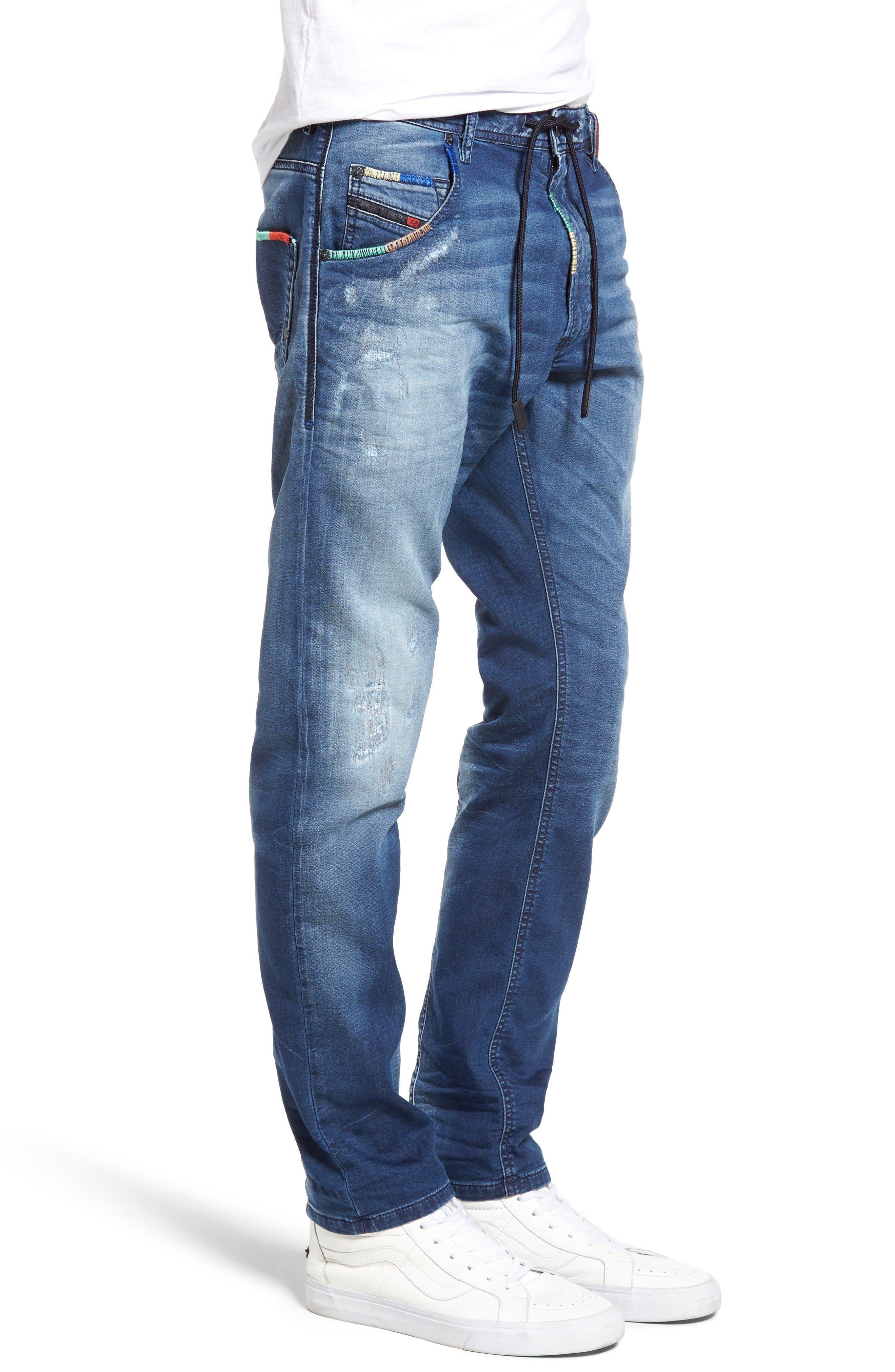 Alternate Image 3  - DIESEL Krooley Jogg Slouchy Slim Fit Jeans (0680Y)