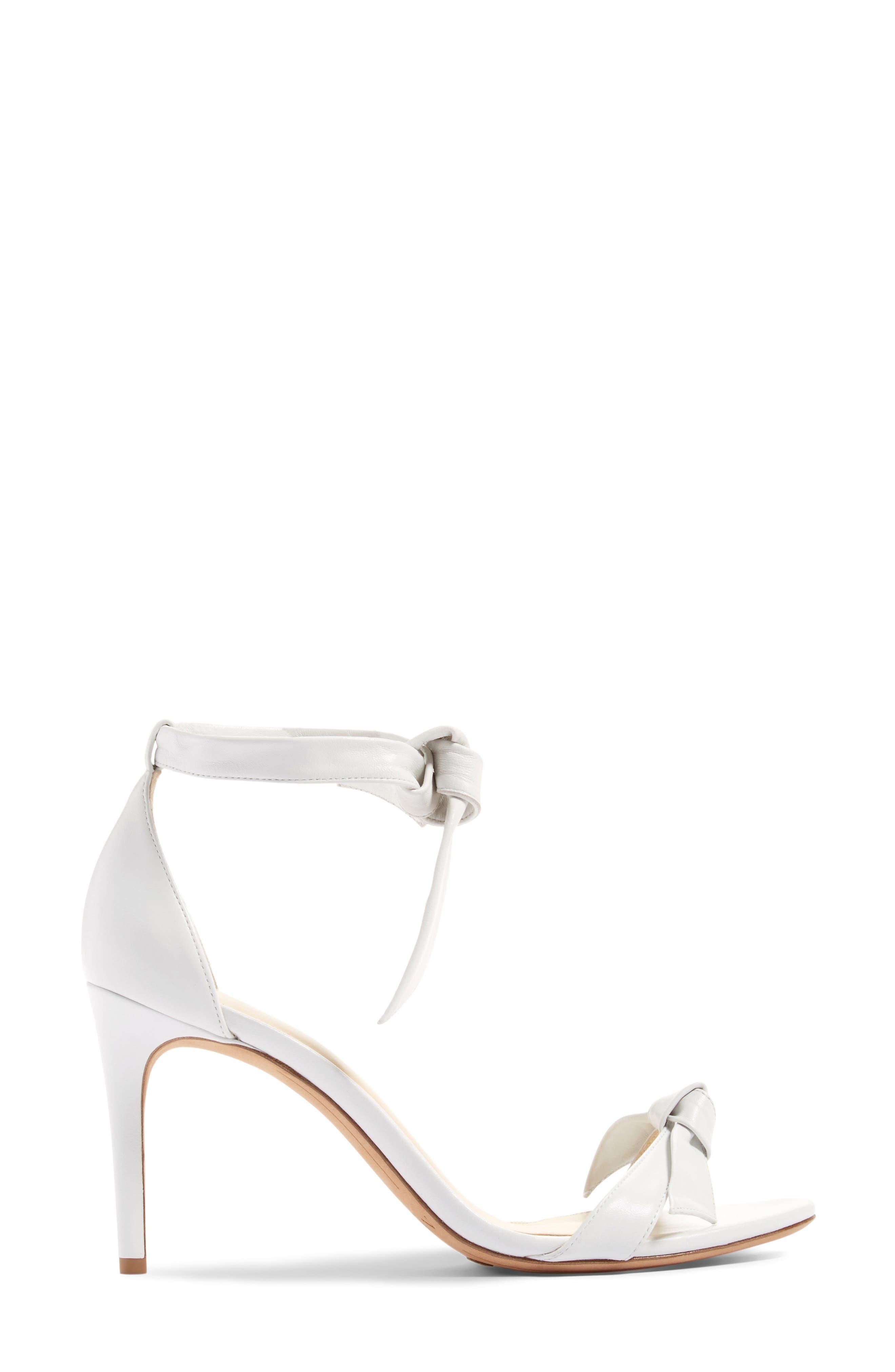 Clarita Ankle Tie Sandal,                             Alternate thumbnail 4, color,                             White Leather