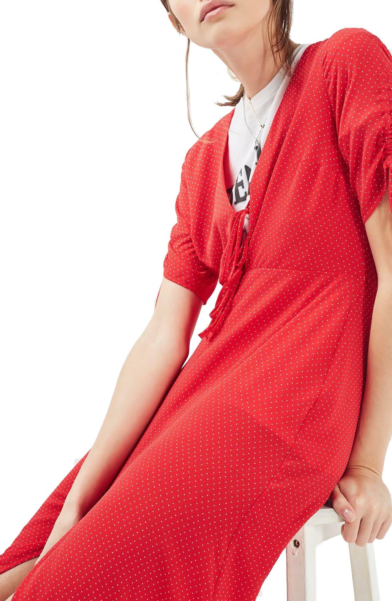 Alternate Image 1 Selected - Topshop Spot Tea Dress