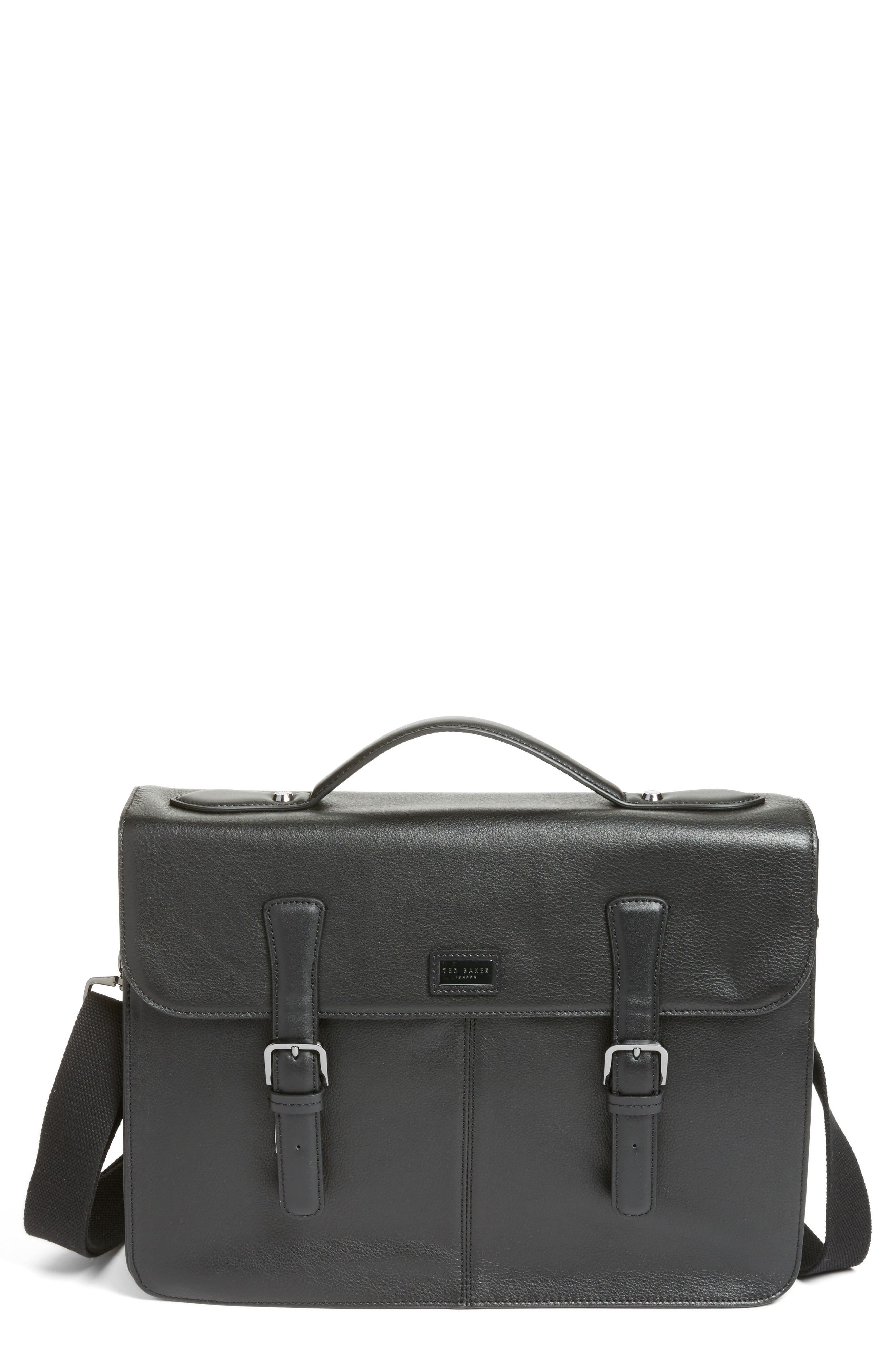 Alternate Image 1 Selected - Ted Baker London Bengal Leather Satchel