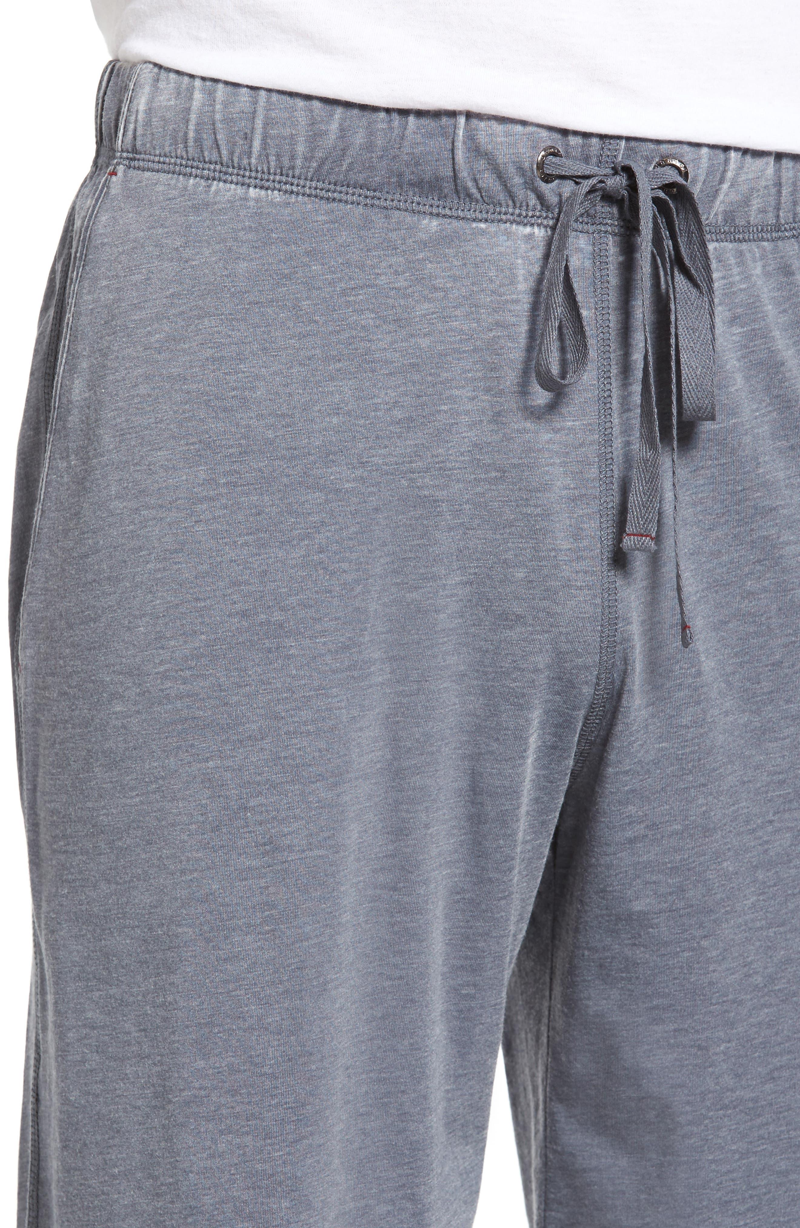 Burnout Lounge Shorts,                             Alternate thumbnail 4, color,                             Charcoal