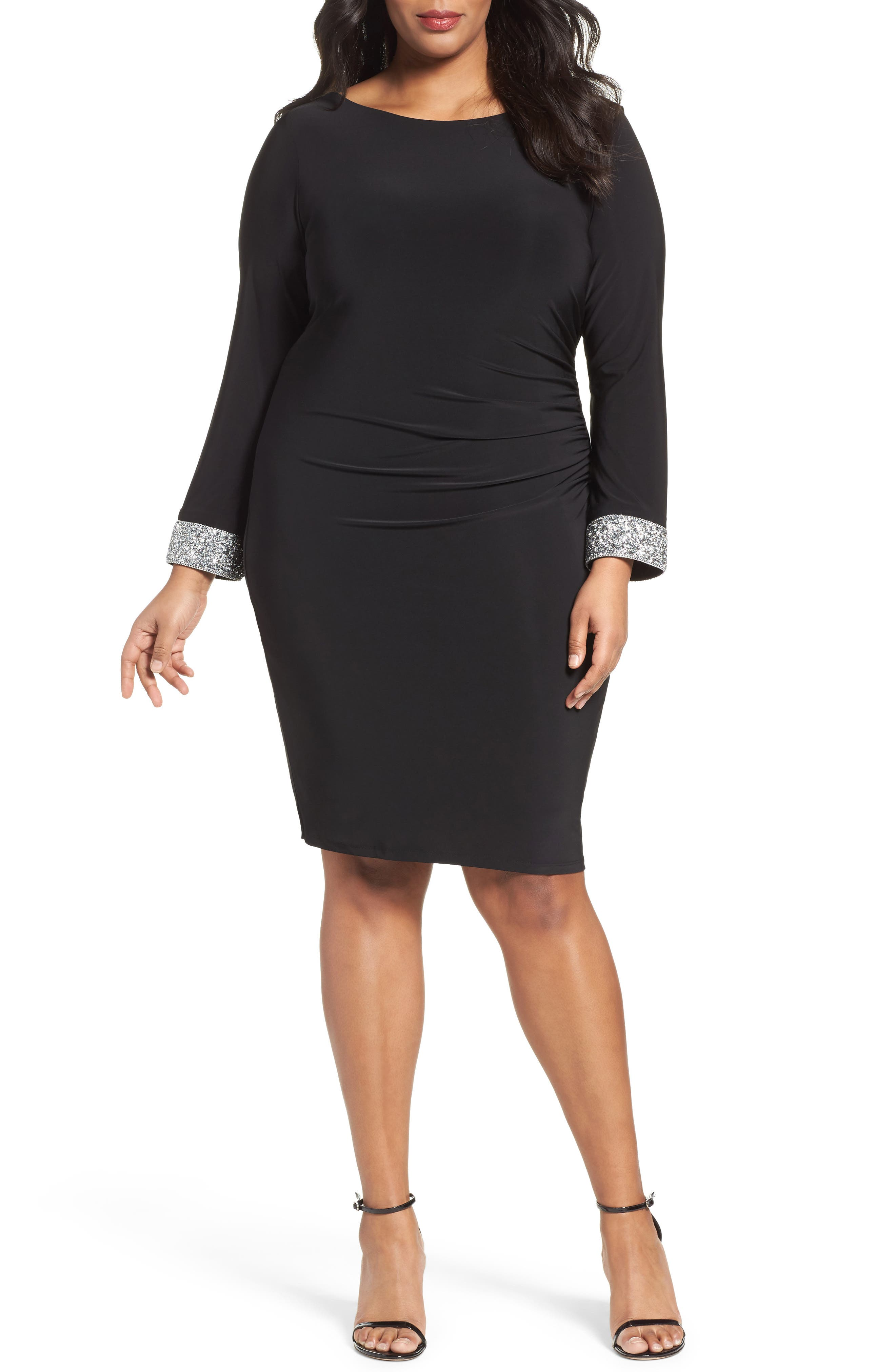 Main Image - Marina Open Back Sheath Dress (Plus Size)