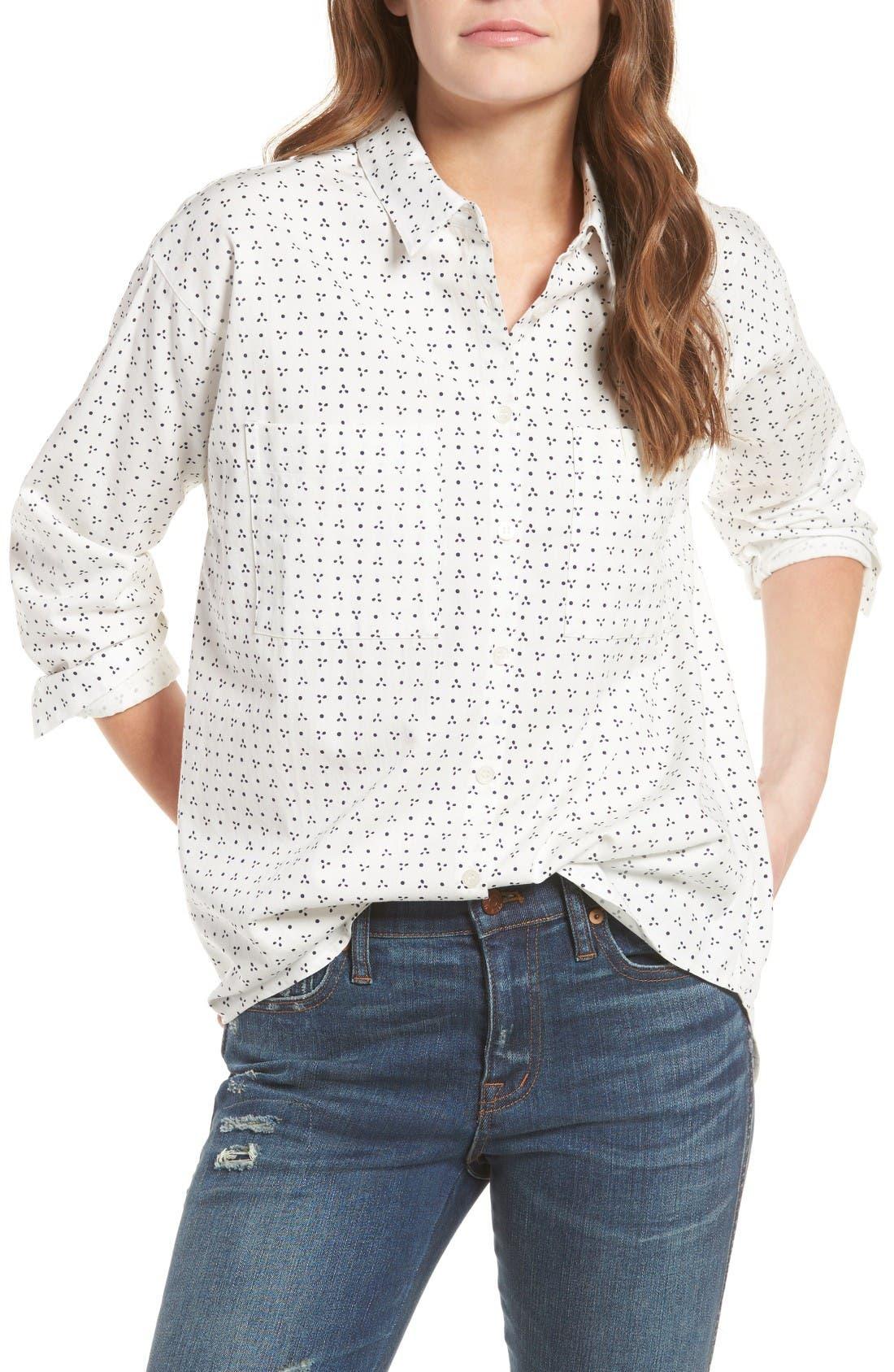 Main Image - Madewell Shrunken Trapeze Shirt